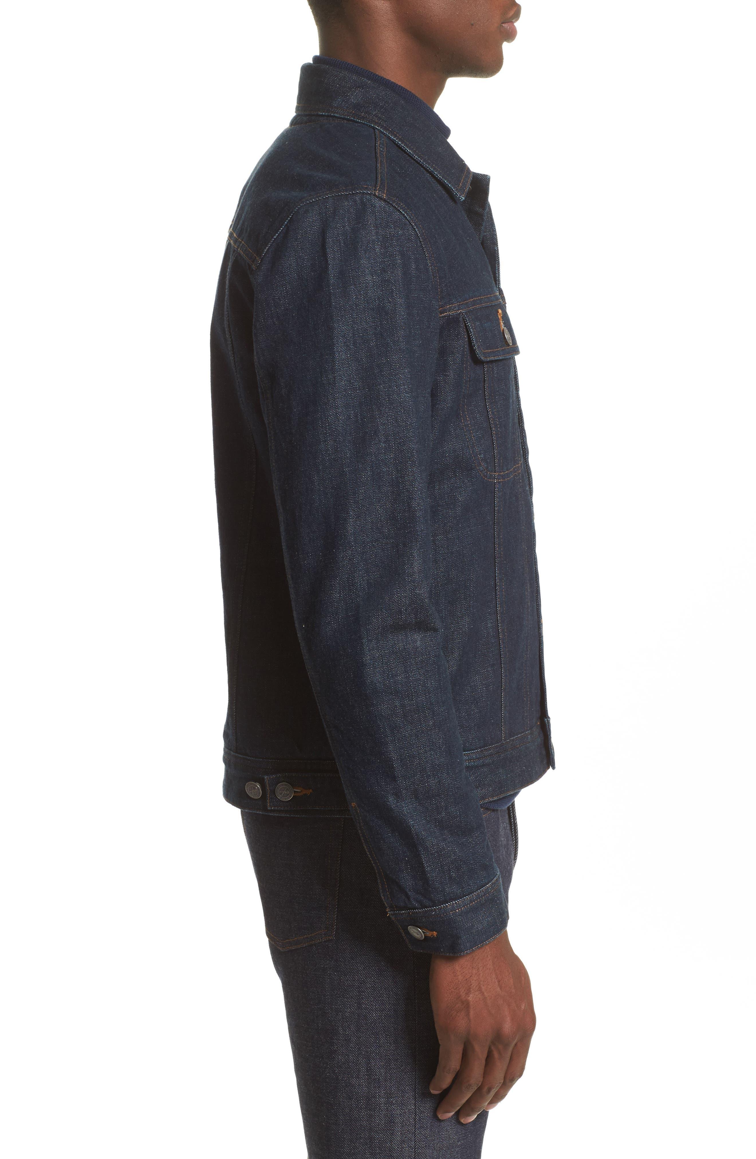 Denim Shirt Jacket,                             Alternate thumbnail 3, color,                             Indigo