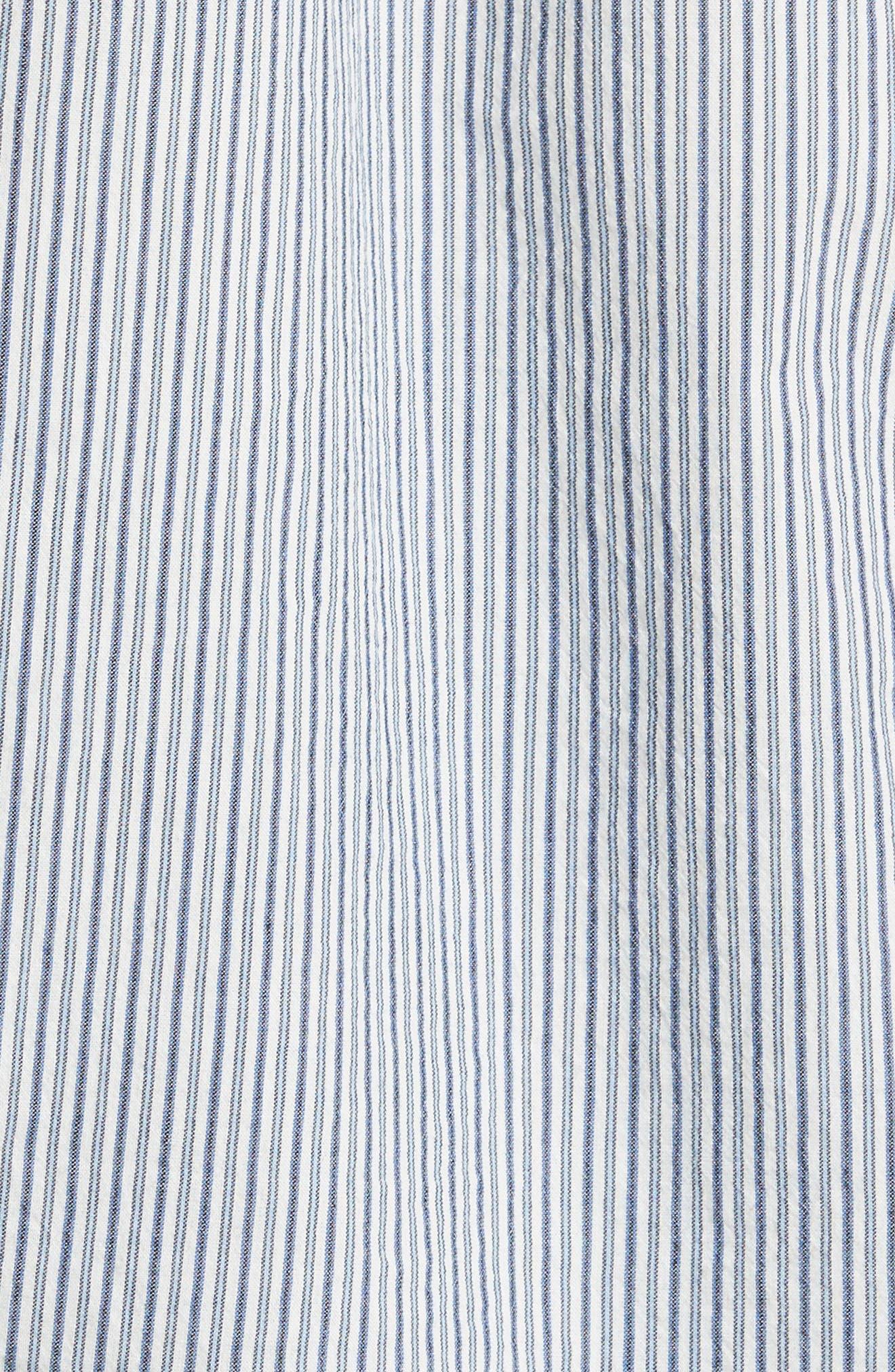 Alternate Image 6  - Vince Mix Stripe Silk Shirt