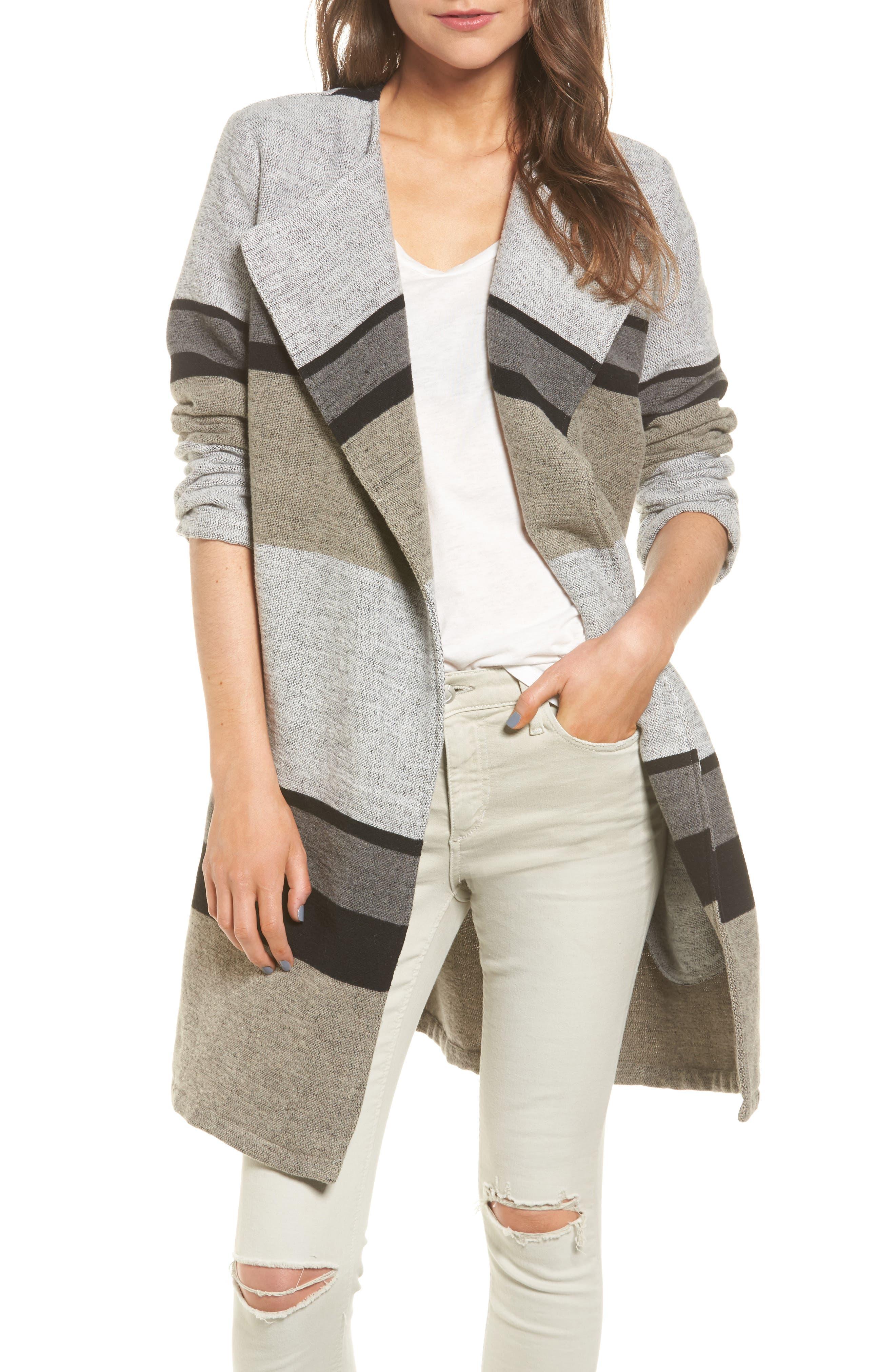 Allesa Stripe Jacket,                         Main,                         color, Oatmeal
