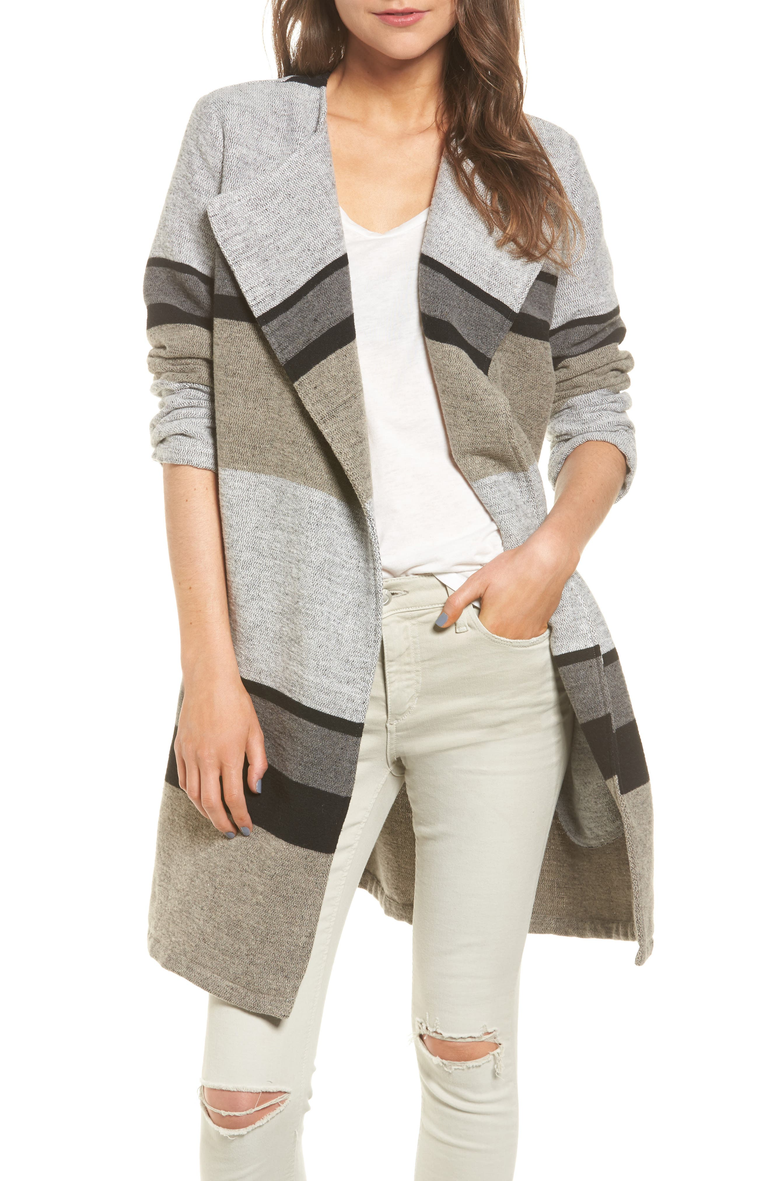cupcakes and cashmere Allesa Stripe Jacket