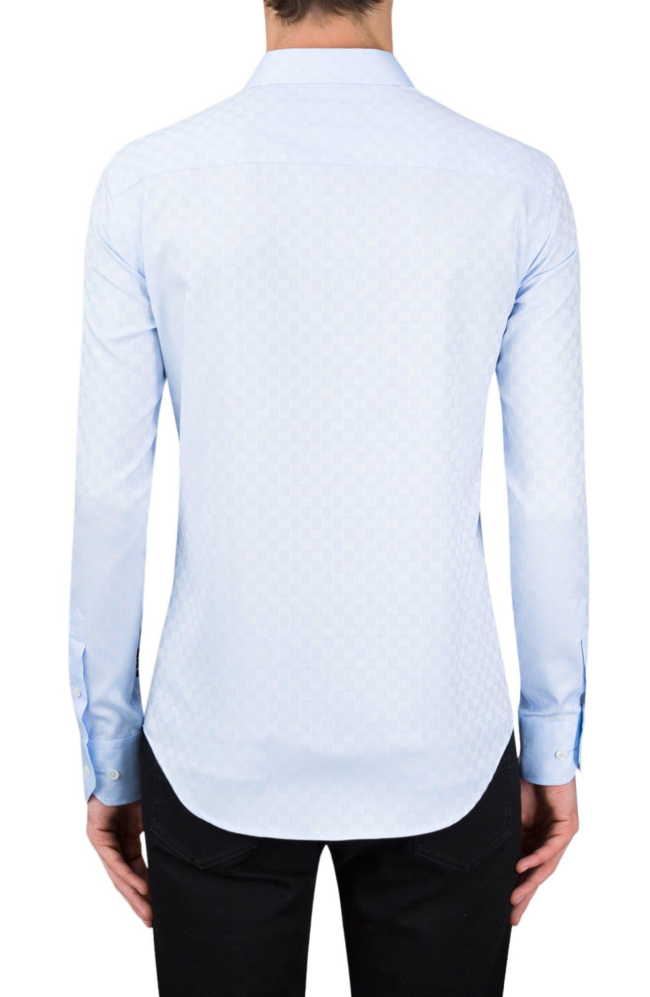 Classic Fit Optic Print Sport Shirt,                             Alternate thumbnail 2, color,                             Sky