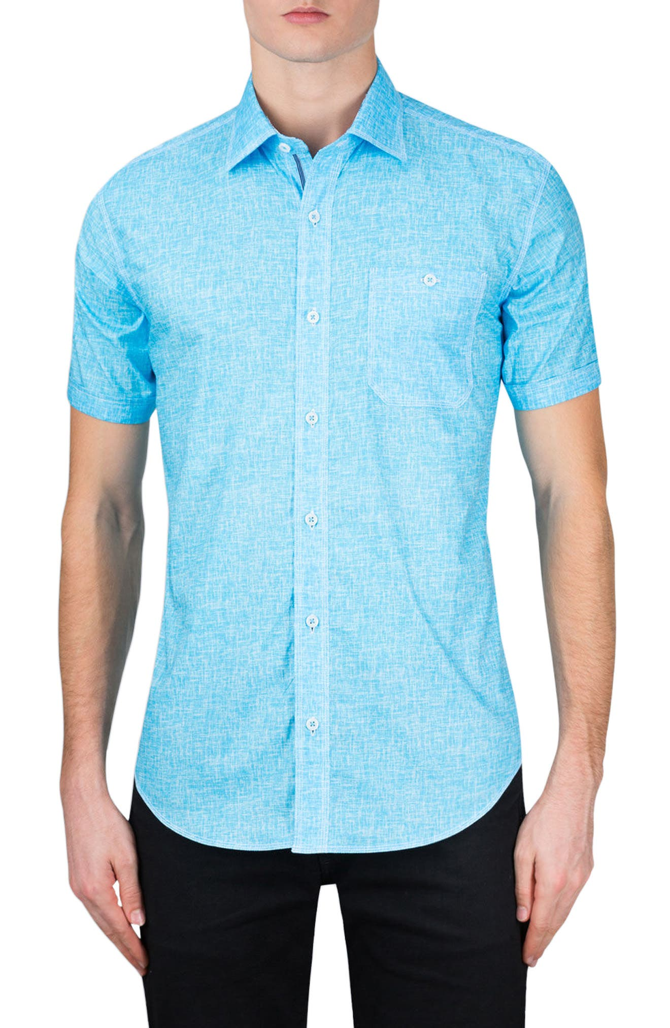 Classic Fit Solid Sport Shirt,                             Main thumbnail 1, color,                             Ice