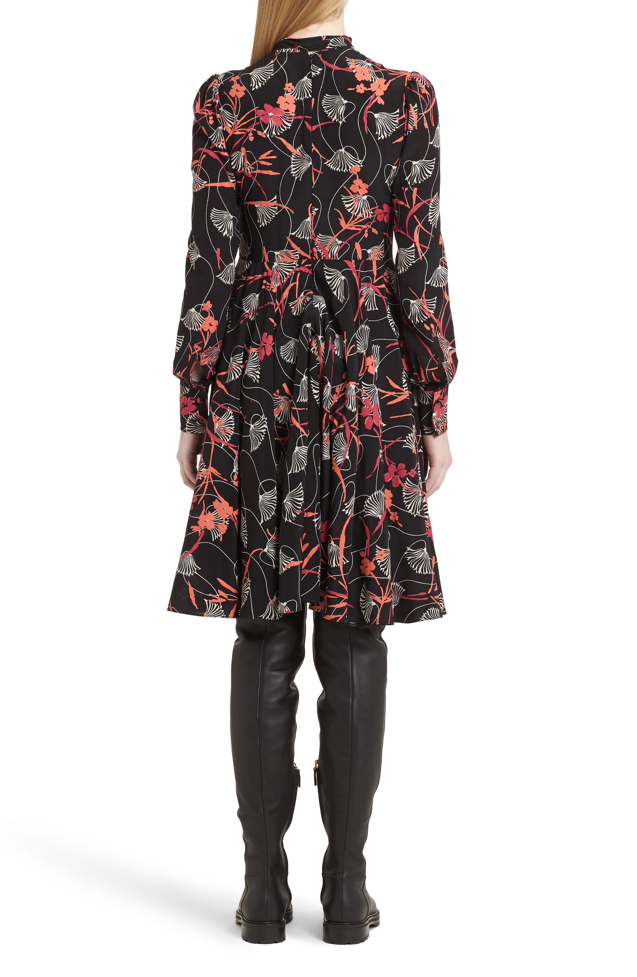 Alternate Image 2  - Valentino Lotus Print Tie Neck Dress