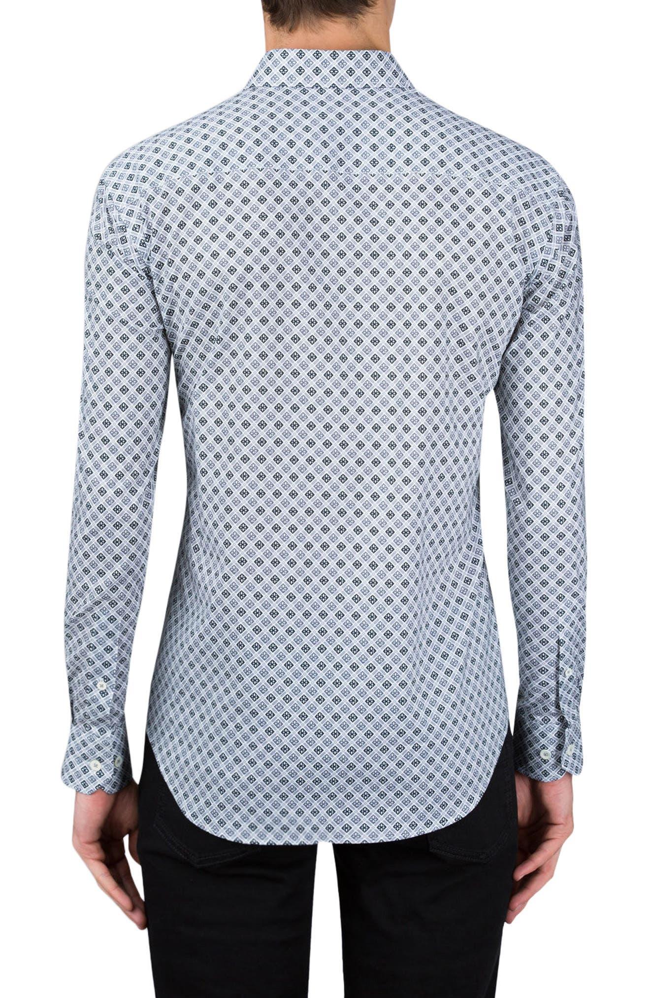 Alternate Image 2  - Bugatchi Shaped Fit Sport Shirt