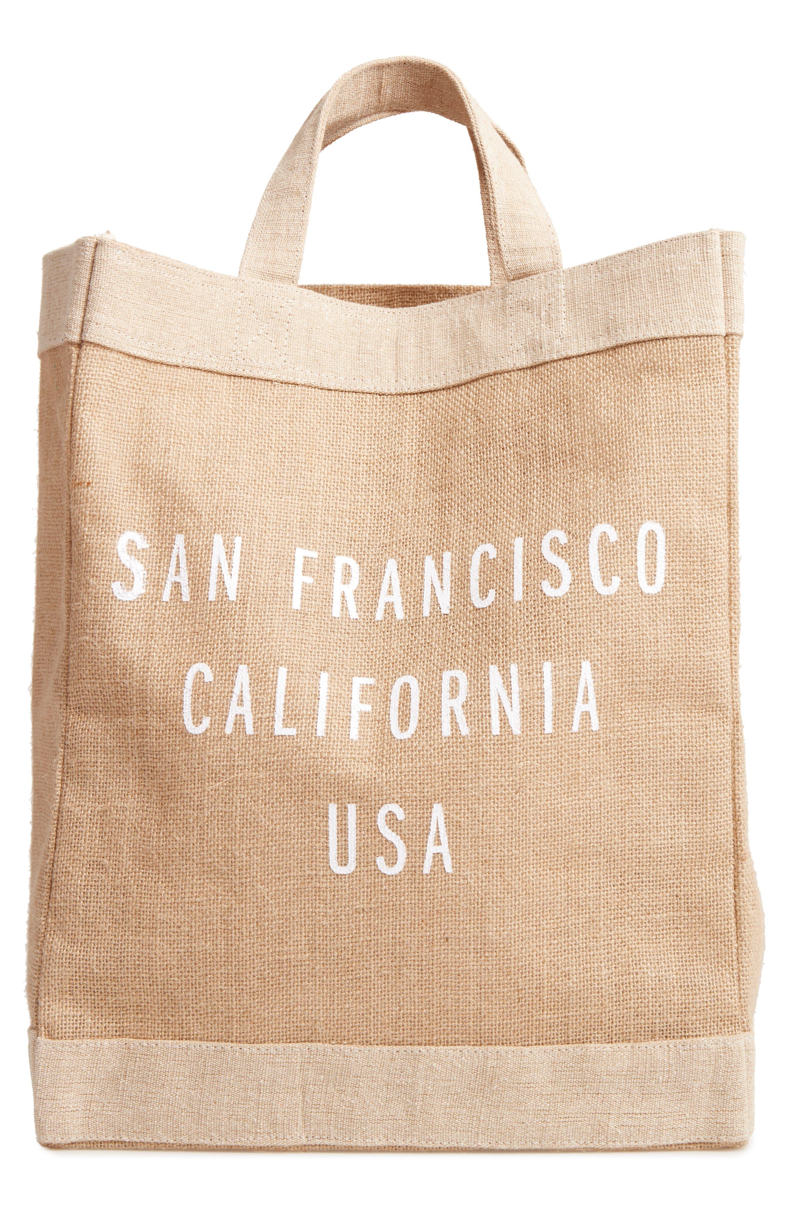 San Francisco Simple Market Bag,                             Main thumbnail 1, color,                             Natural