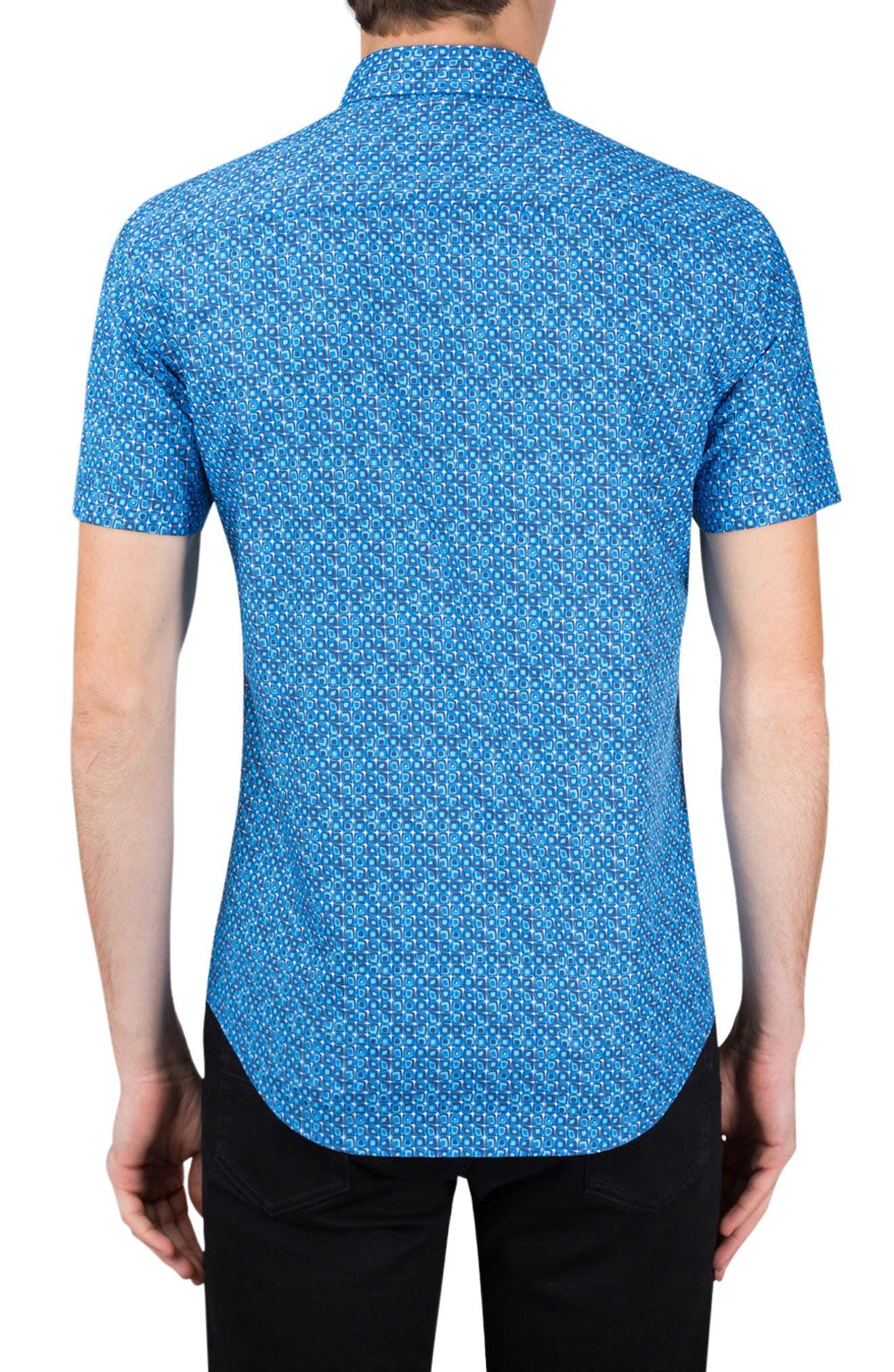 Alternate Image 2  - Bugatchi Classic Fit Print Sport Shirt