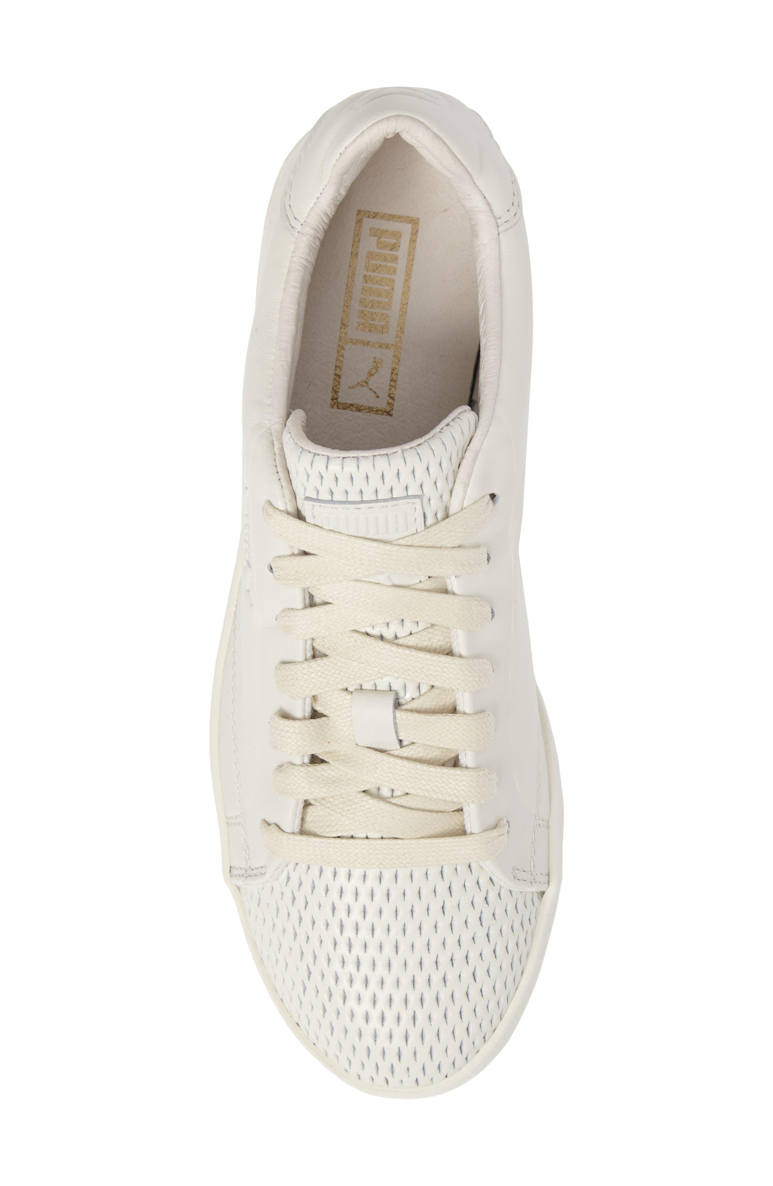 Match Lo Open Sneaker,                             Alternate thumbnail 5, color,                             Whisper White/ Whisper White