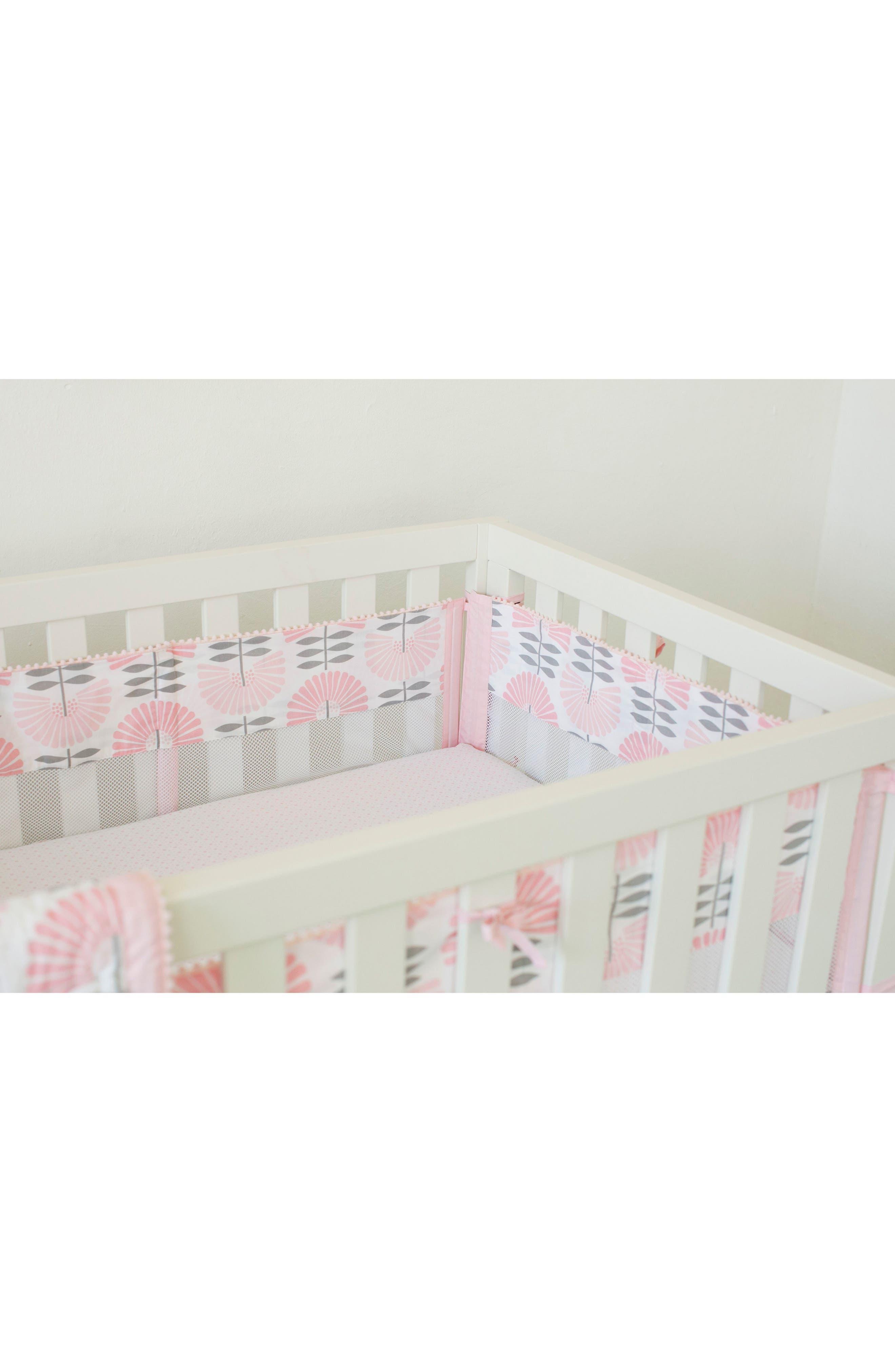 Southwest Skies Secure-Me Crib Liner,                         Main,                         color, Light Pink
