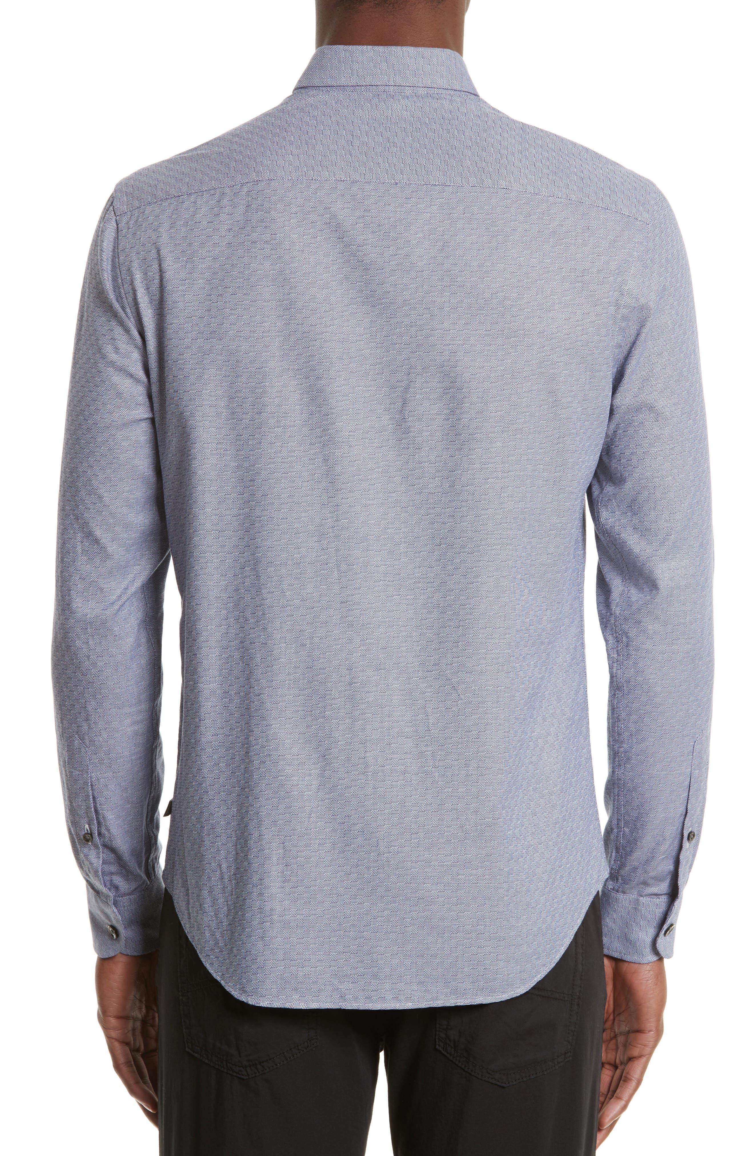 Alternate Image 2  - Armani Collezioni Geo Jacquard Sport Shirt