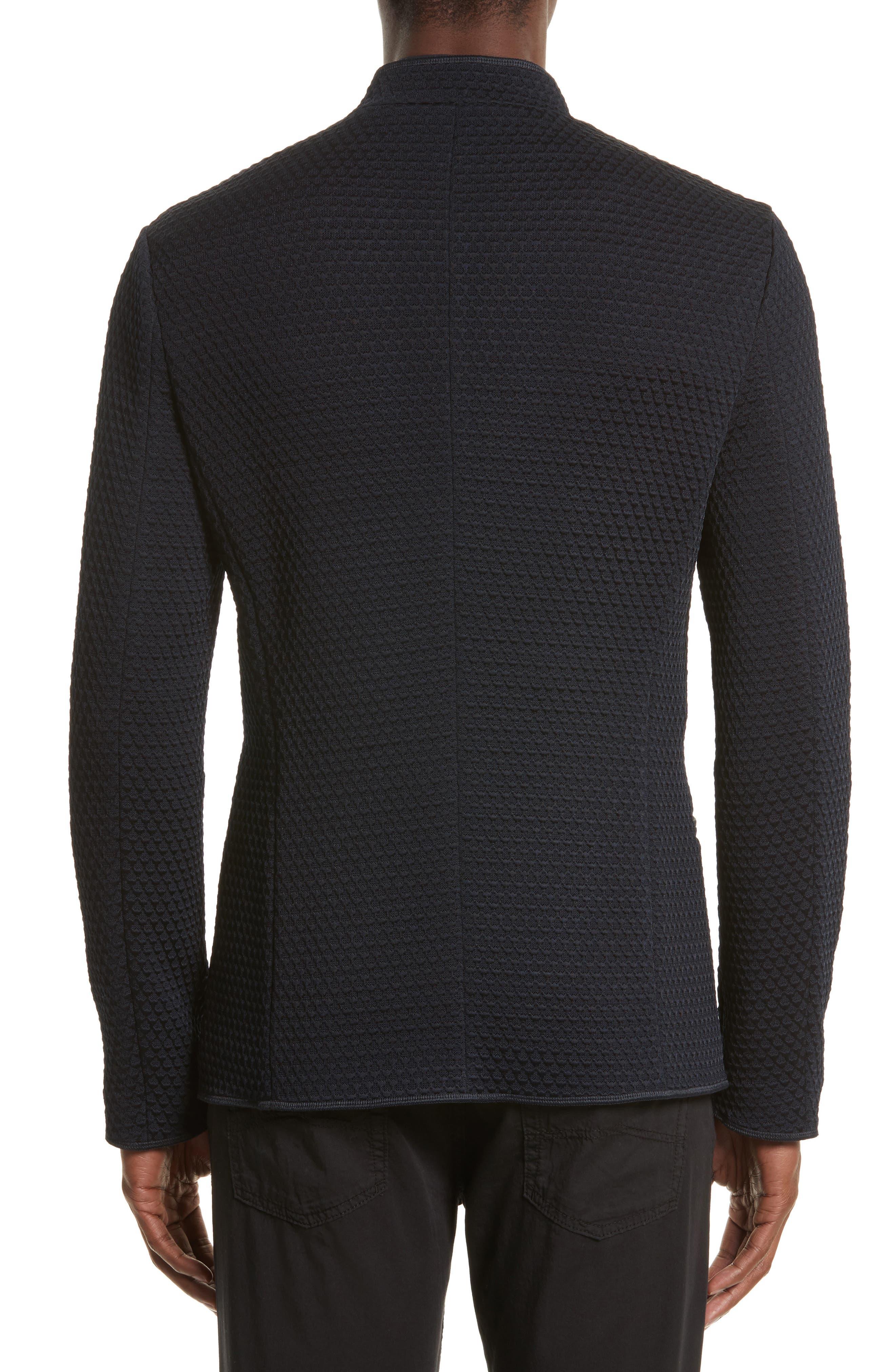 Alternate Image 2  - Armani Collezioni Jacquard Button Front Sweater