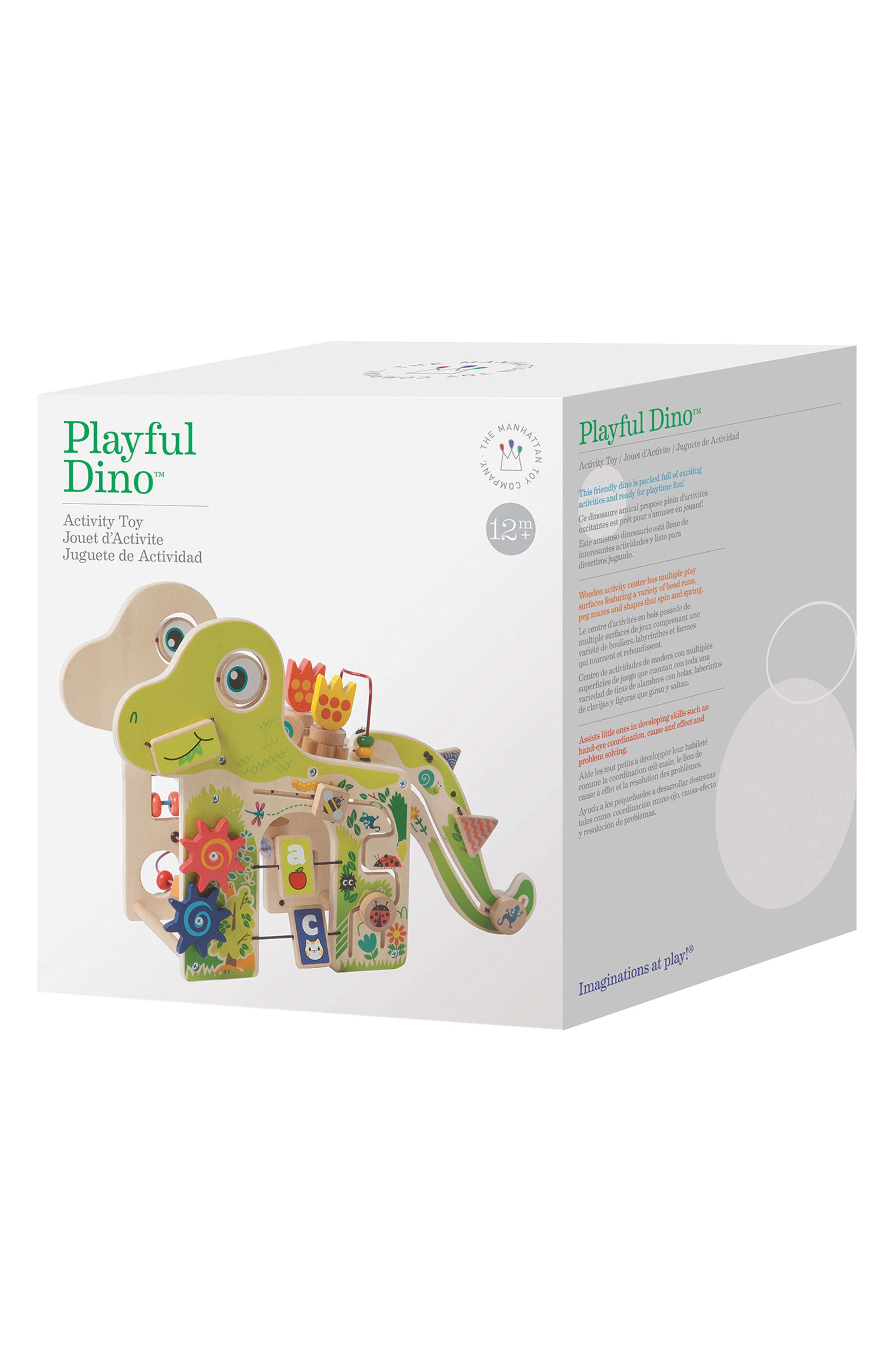 Wooden Playful Dino Activity Center,                             Alternate thumbnail 4, color,                             Green