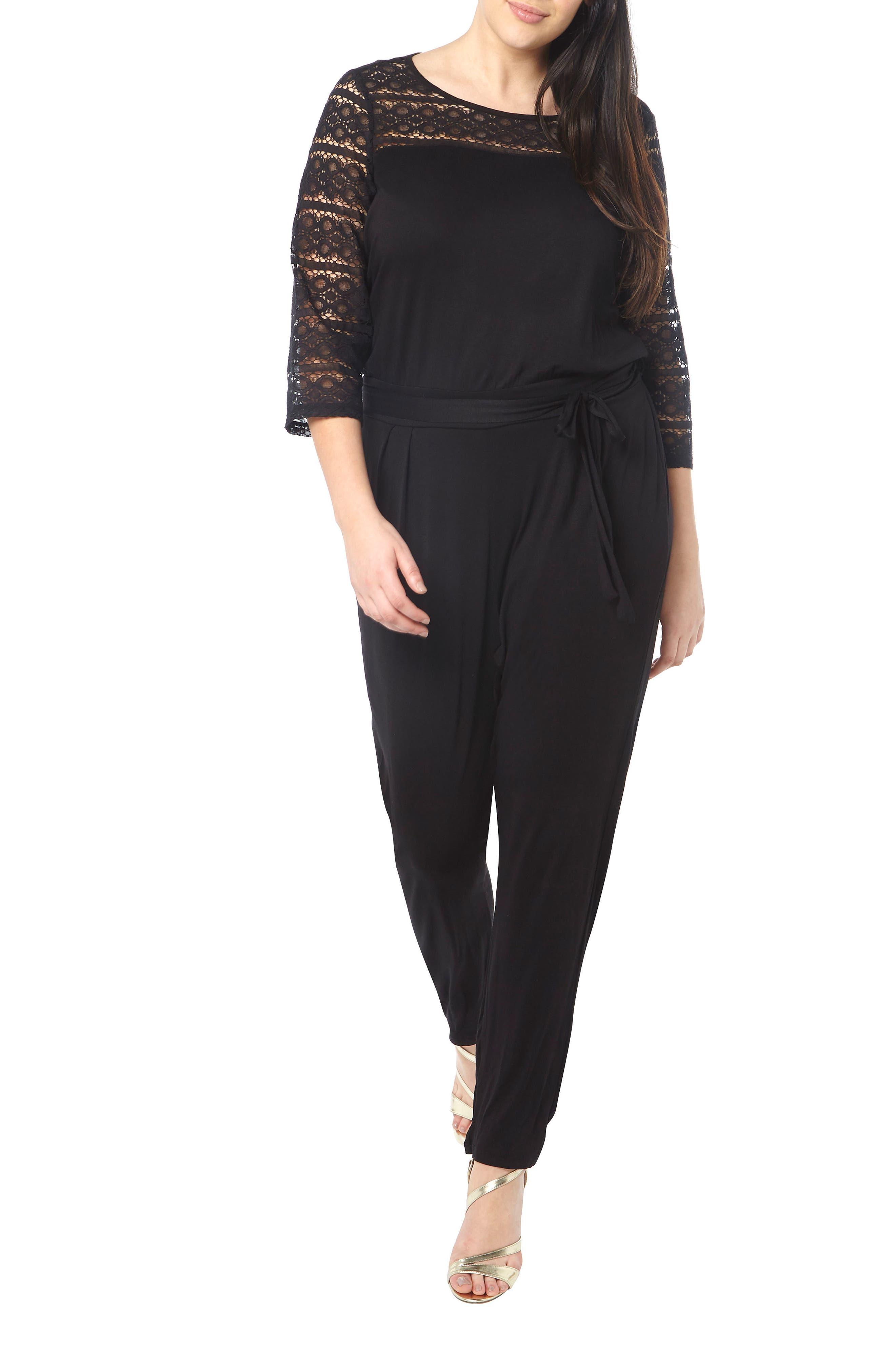 Dorothy Perkins Lace Detail Jumpsuit (Plus Size)