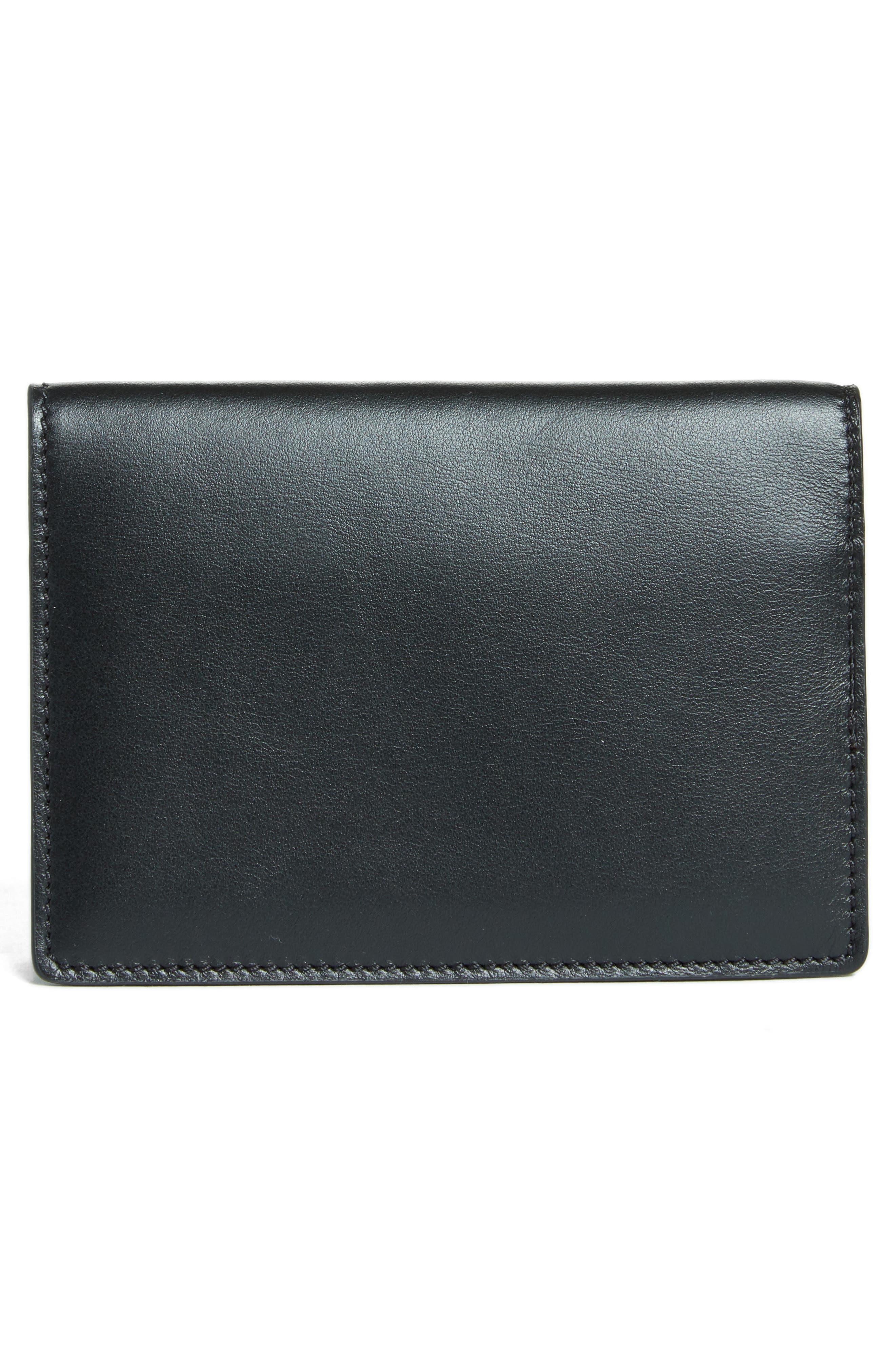 Alternate Image 4  - Moschino Logo Leather Passport Holder