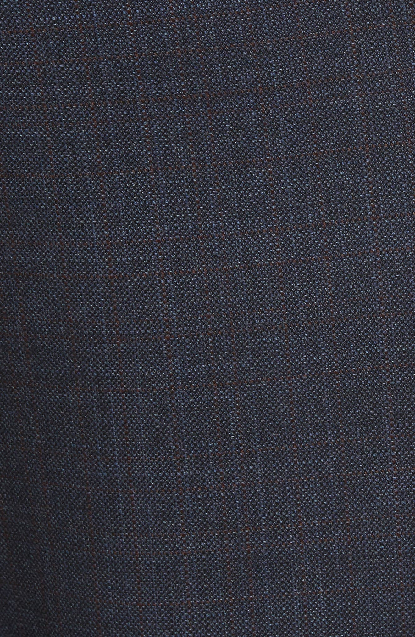 Jefferson Flat Front Solid Wool Trousers,                             Alternate thumbnail 5, color,                             Navy