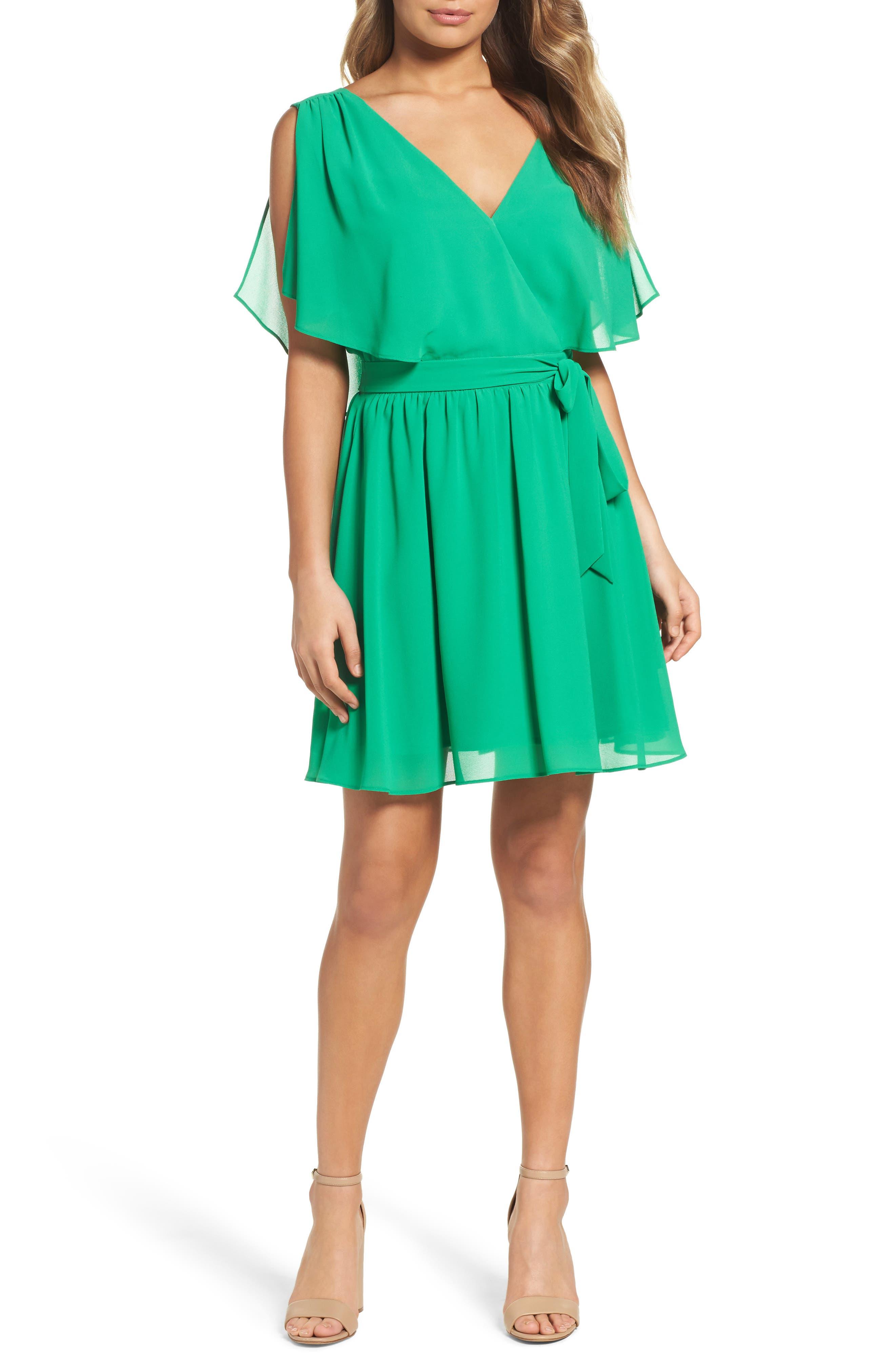 BB Dakota Catia Fit & Flare Dress,                         Main,                         color, Jade