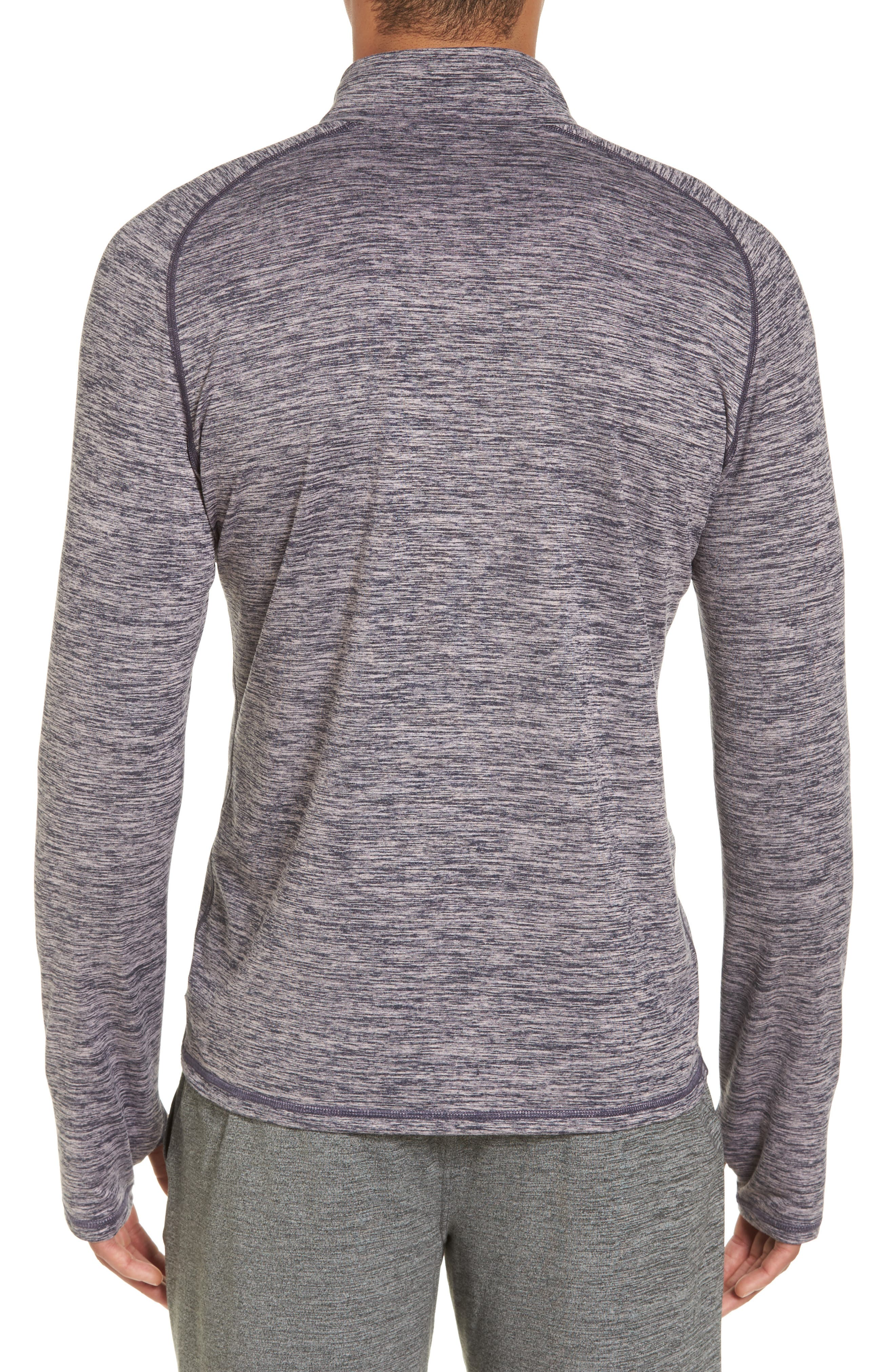 Celsian Quarter Zip Pullover,                             Alternate thumbnail 2, color,                             Purple Navy Melange