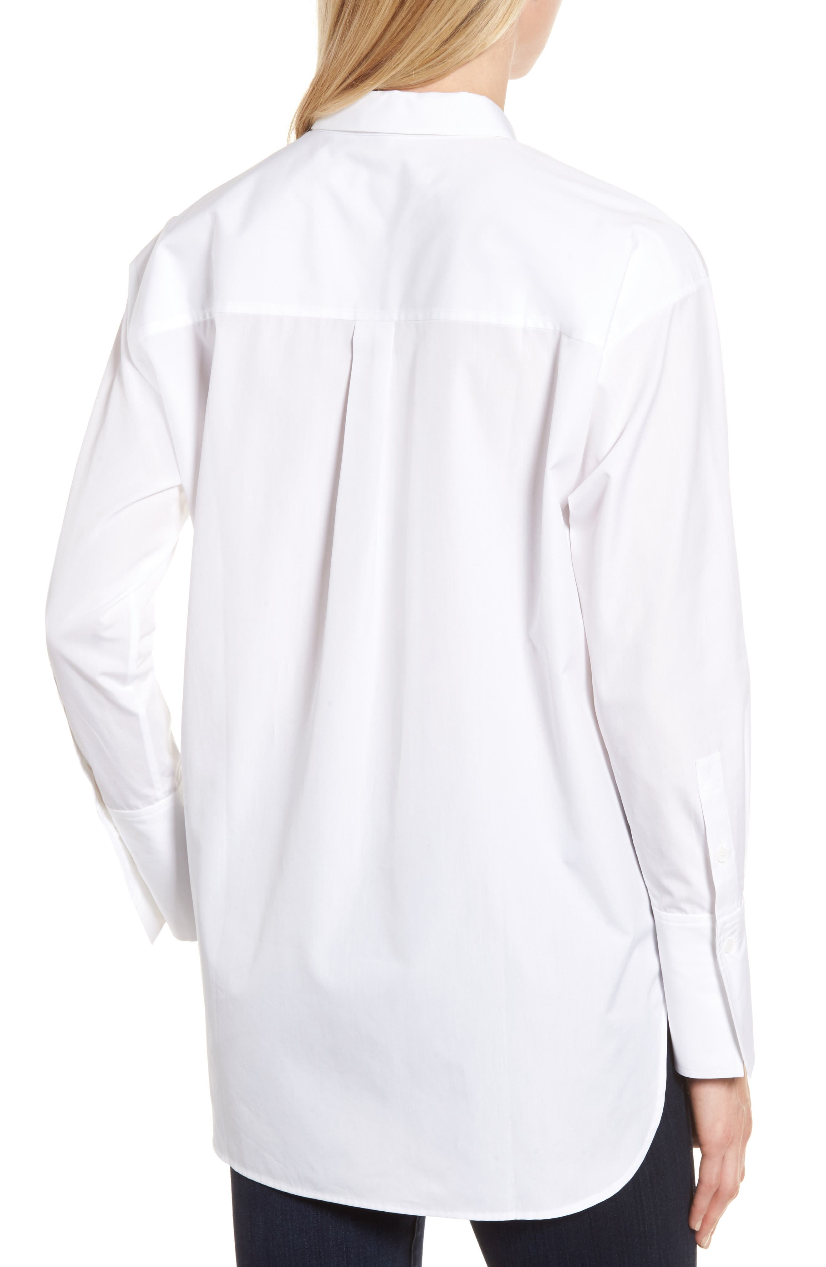 Poplin Shirt,                             Alternate thumbnail 2, color,                             White