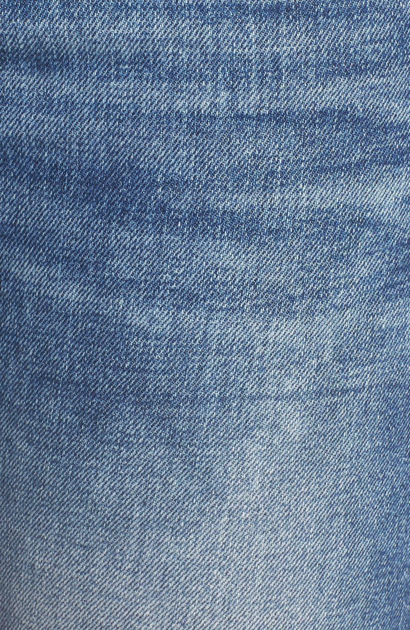Alternate Image 5  - Mavi Jeans Lucy Ripped Skinny Jeans (Foggy)