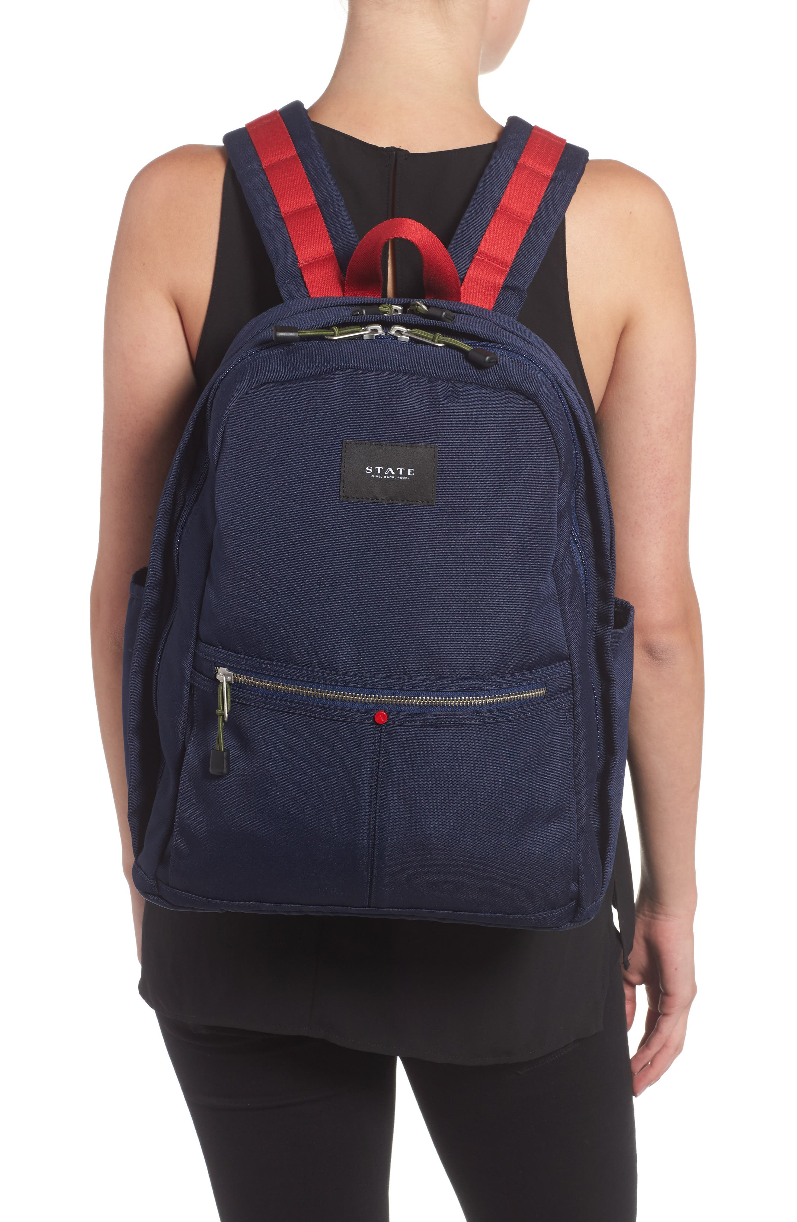 Williamsburg Bedford Backpack,                             Alternate thumbnail 2, color,                             Navy