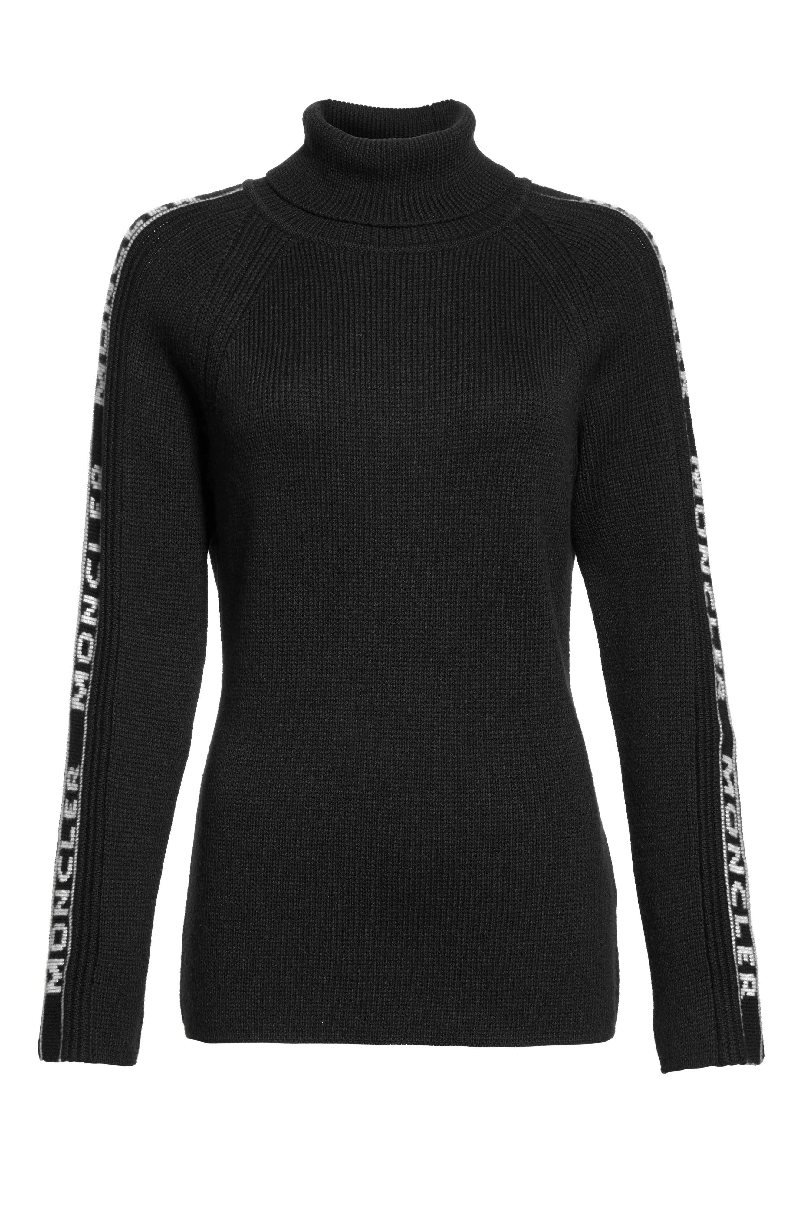 Ciclista Tricot Wool Sweater,                             Alternate thumbnail 5, color,                             Black With White