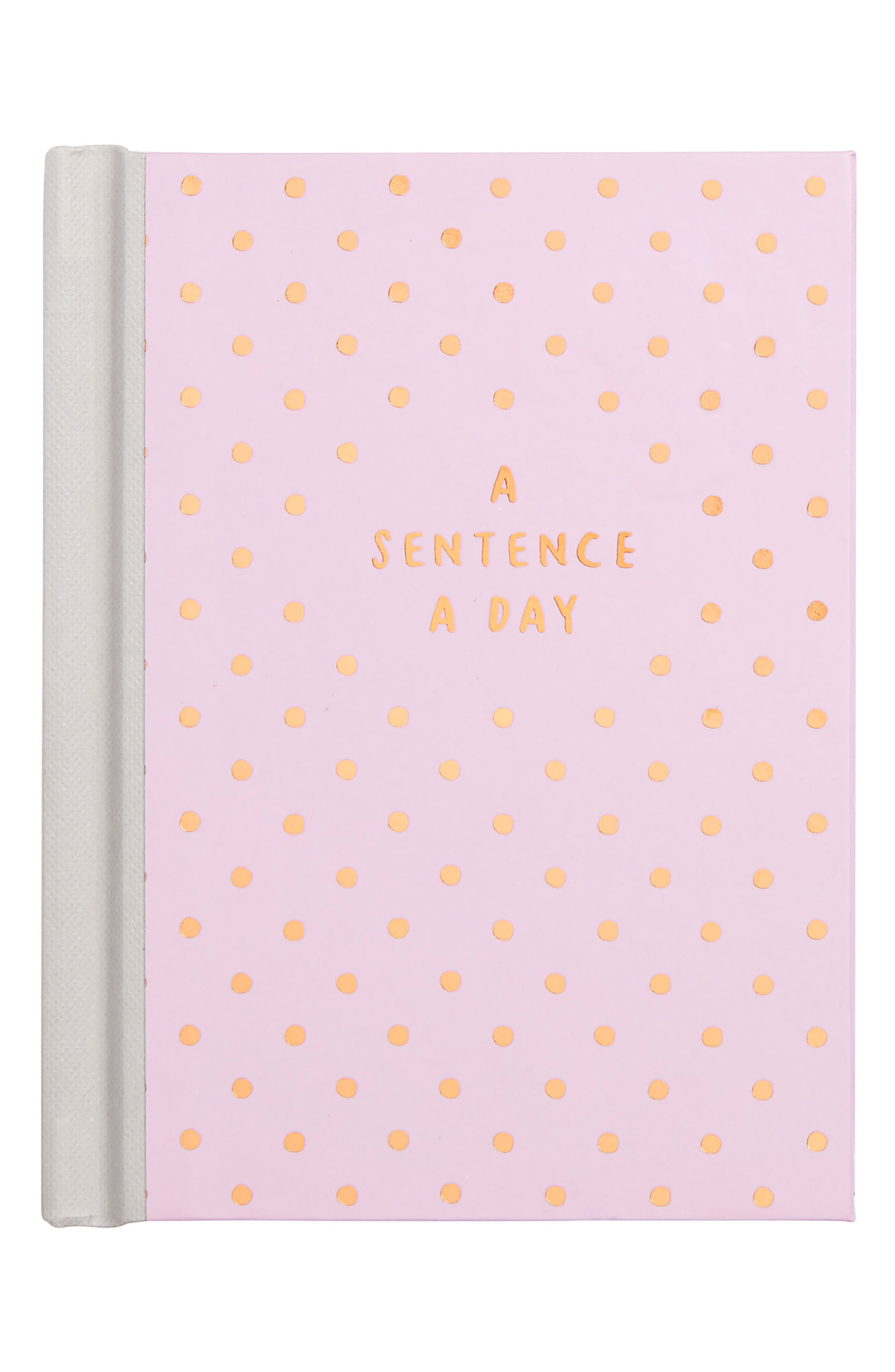 A Sentence A Day Journal,                         Main,                         color, Pink