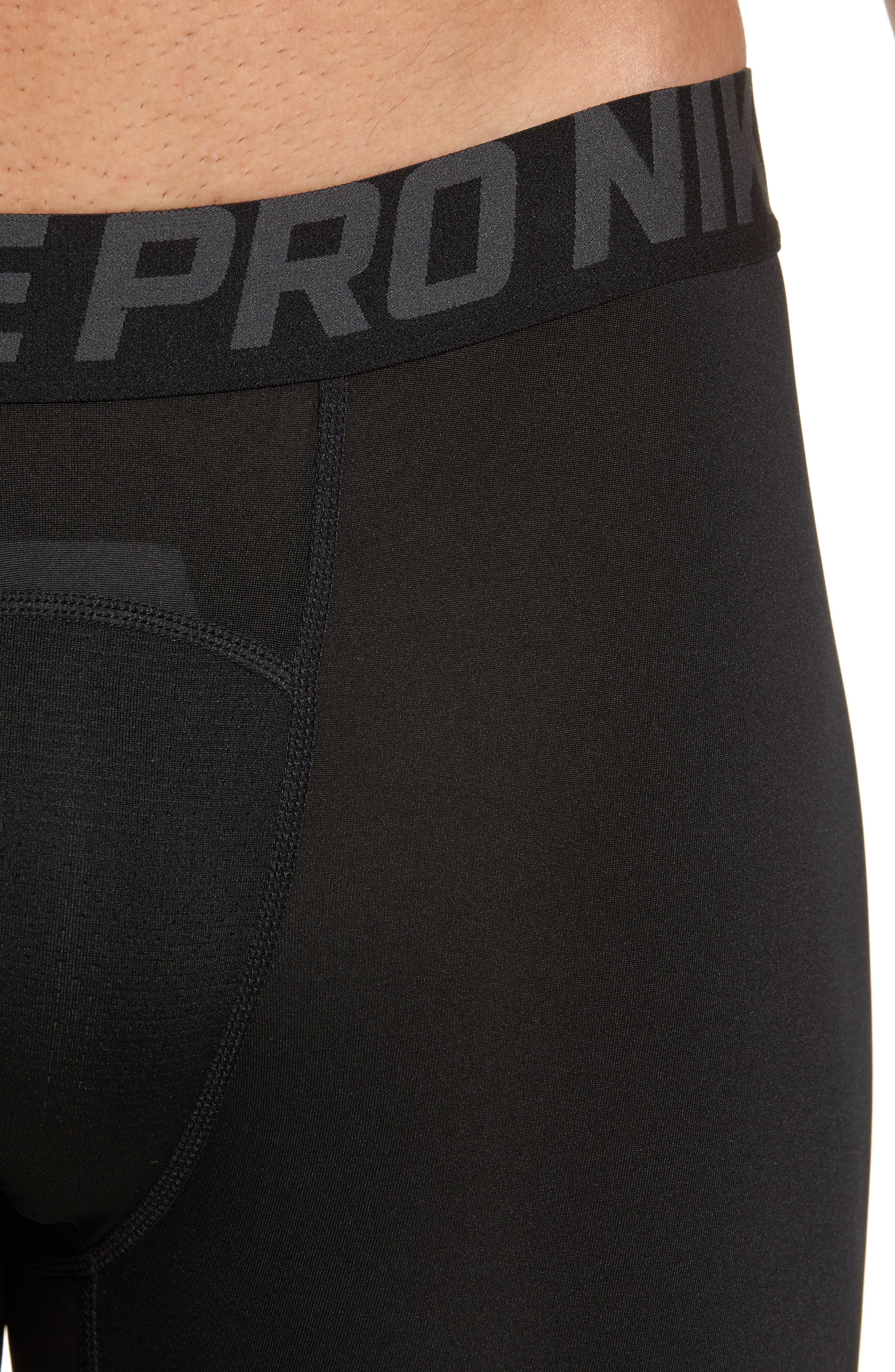 Alternate Image 4  - Nike Pro Three Quarter Training Tights
