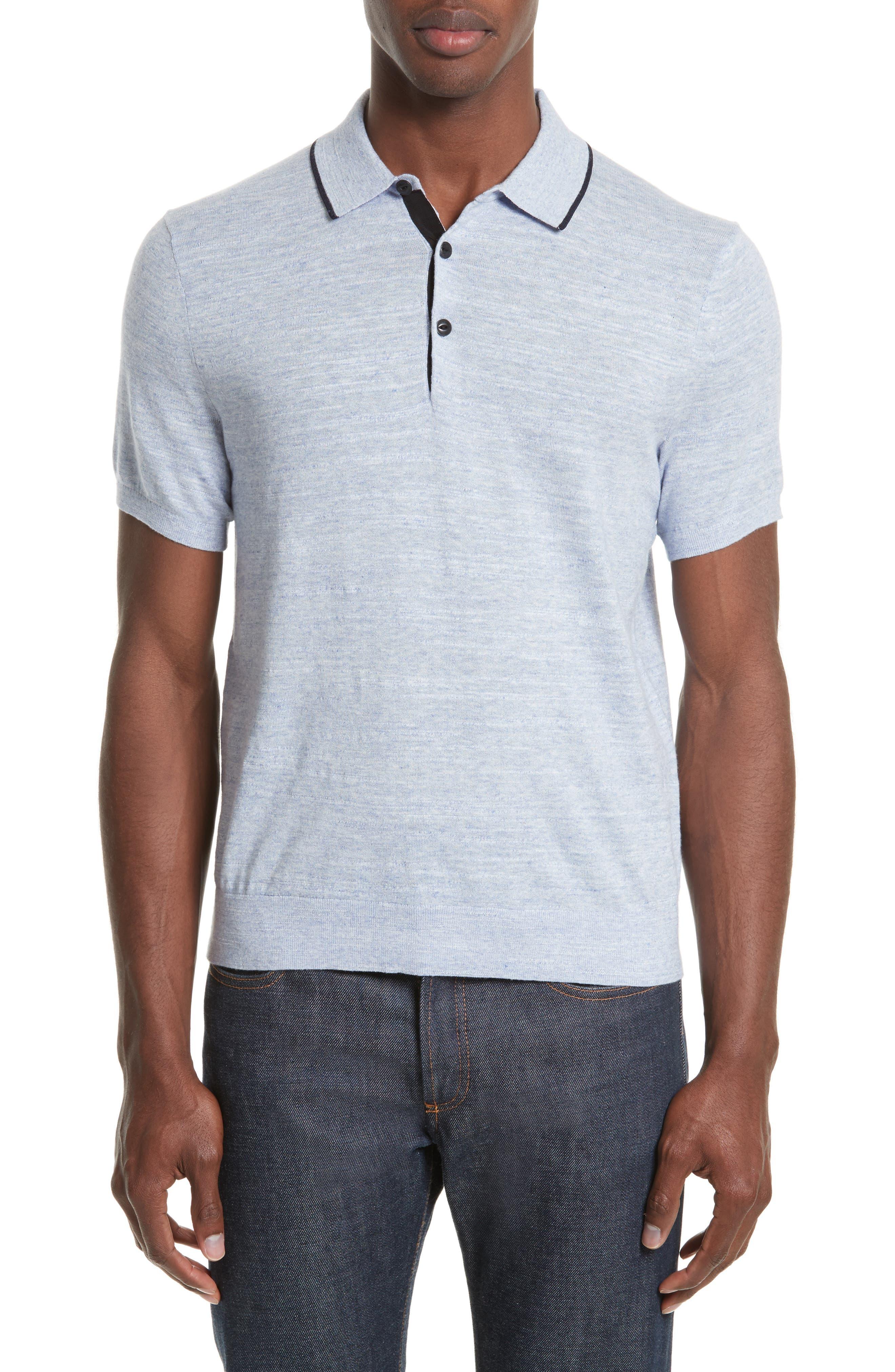 Alternate Image 1 Selected - rag & bone Lucas Cotton Polo