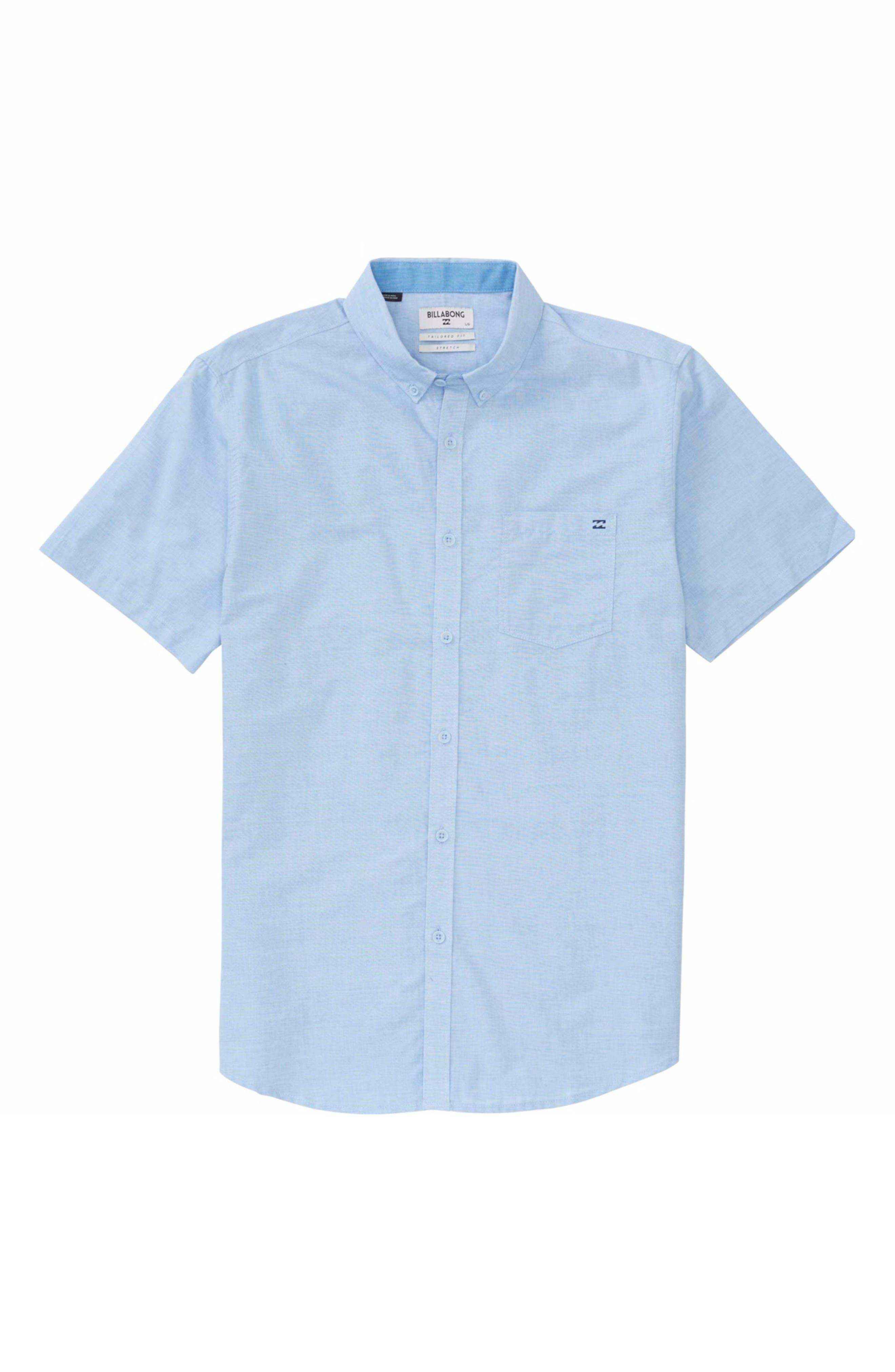 Alternate Image 1 Selected - Billabong All Day Chambray Shirt (Big Boys)