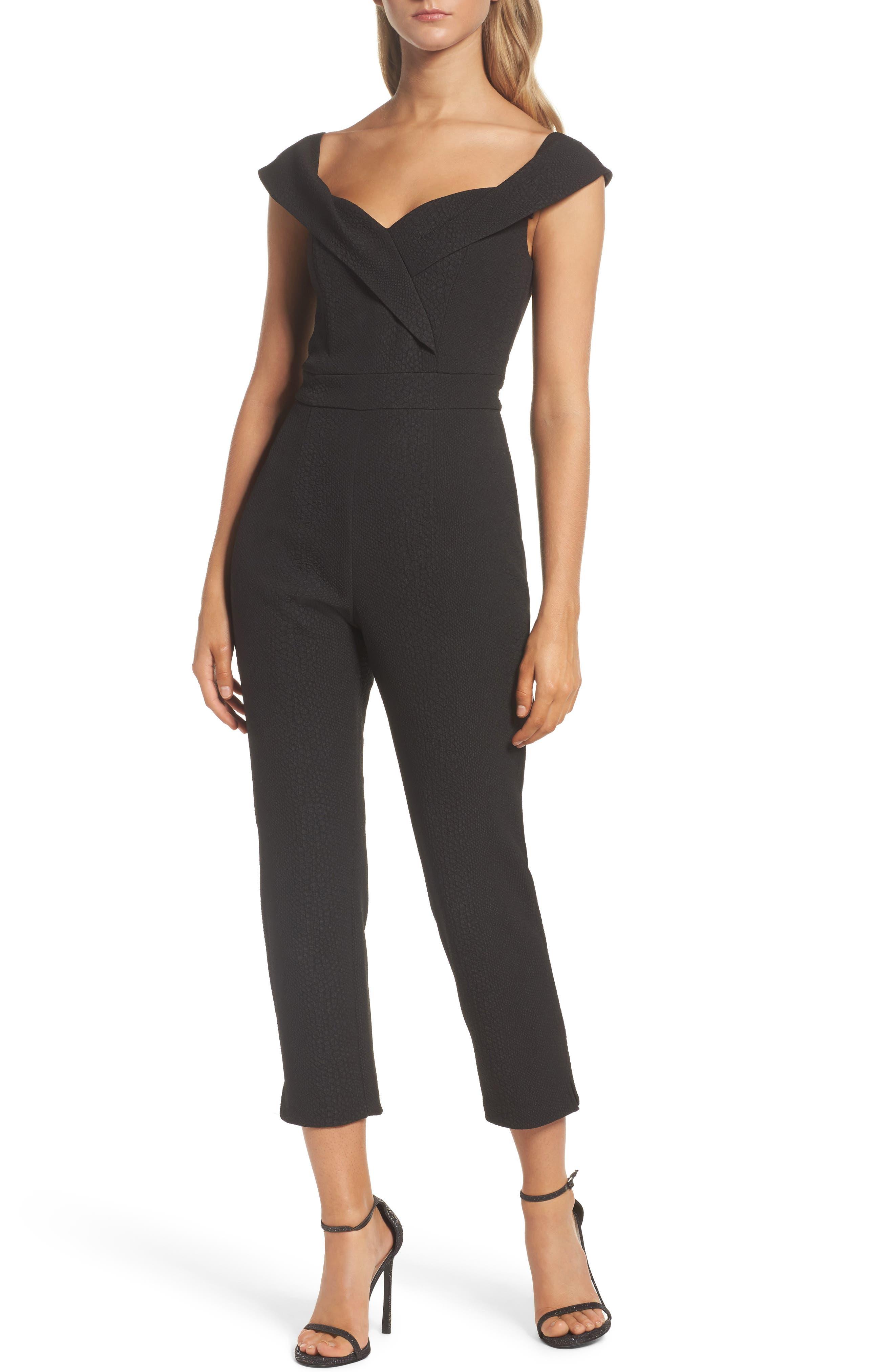 Alternate Image 1 Selected - Bardot Bella Crop Jumpsuit
