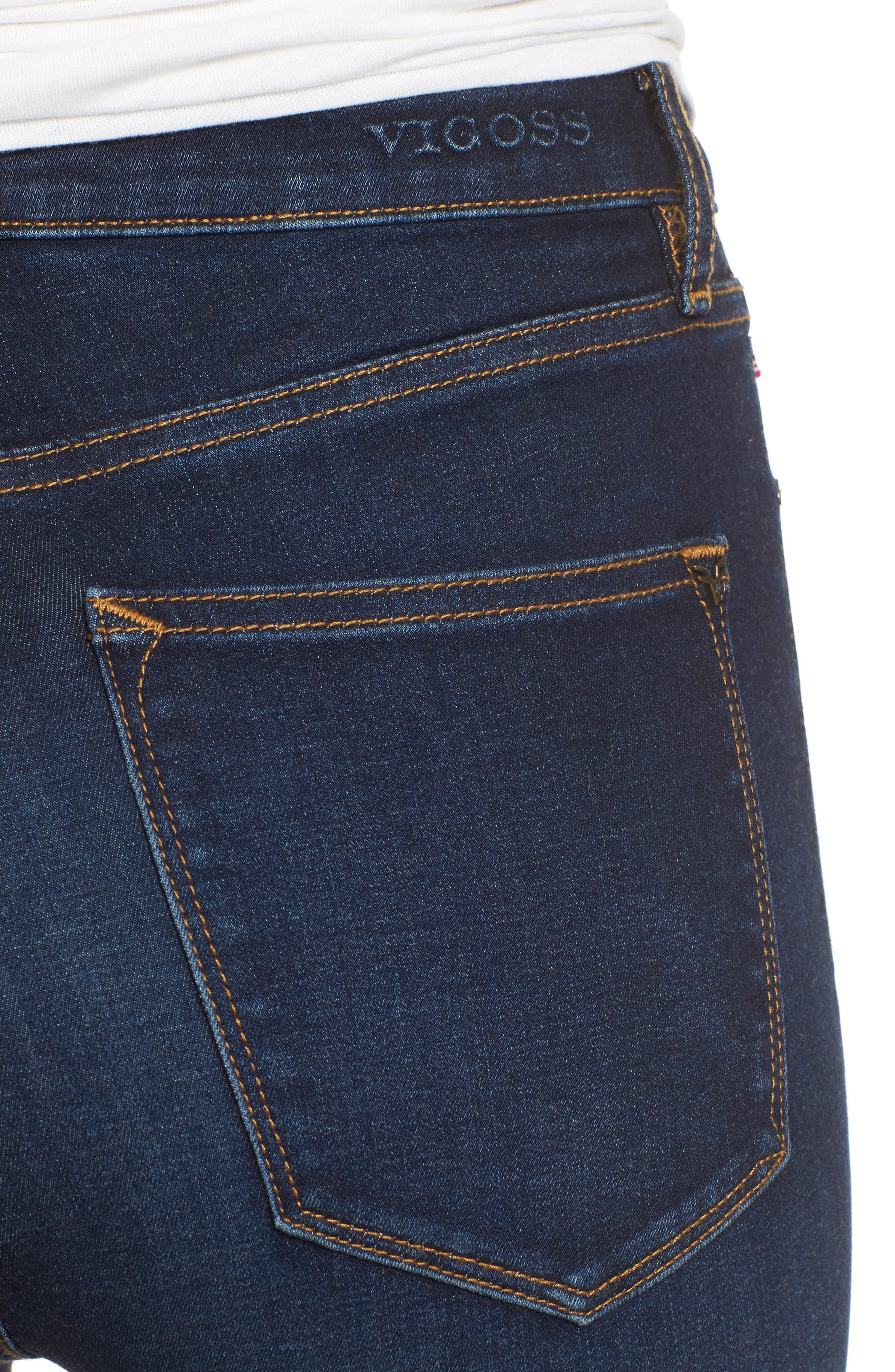 Alternate Image 4  - Vigoss Rebel High Rise Skinny Jeans