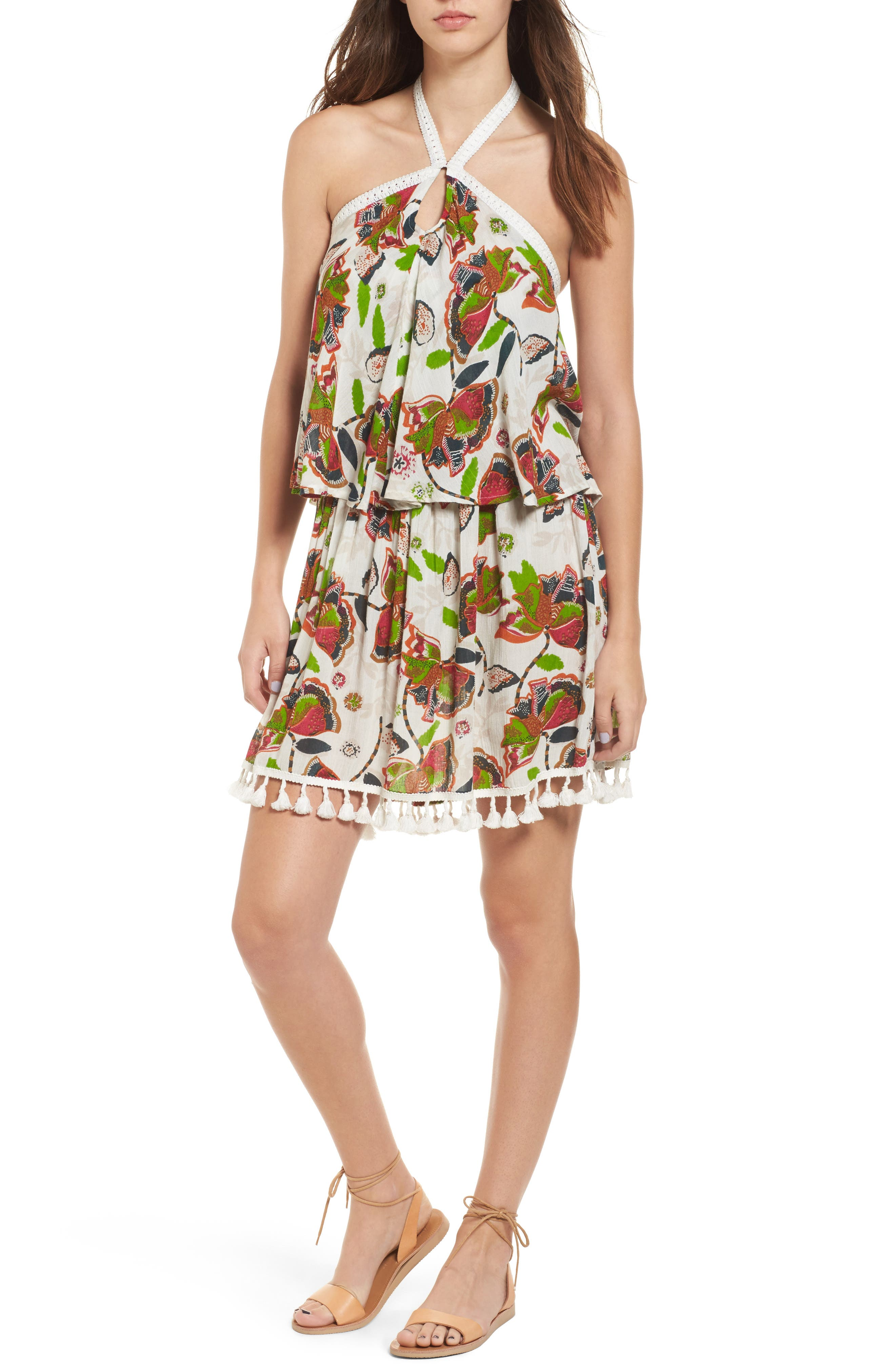 RAGA Tropical Paradise Halter Dress