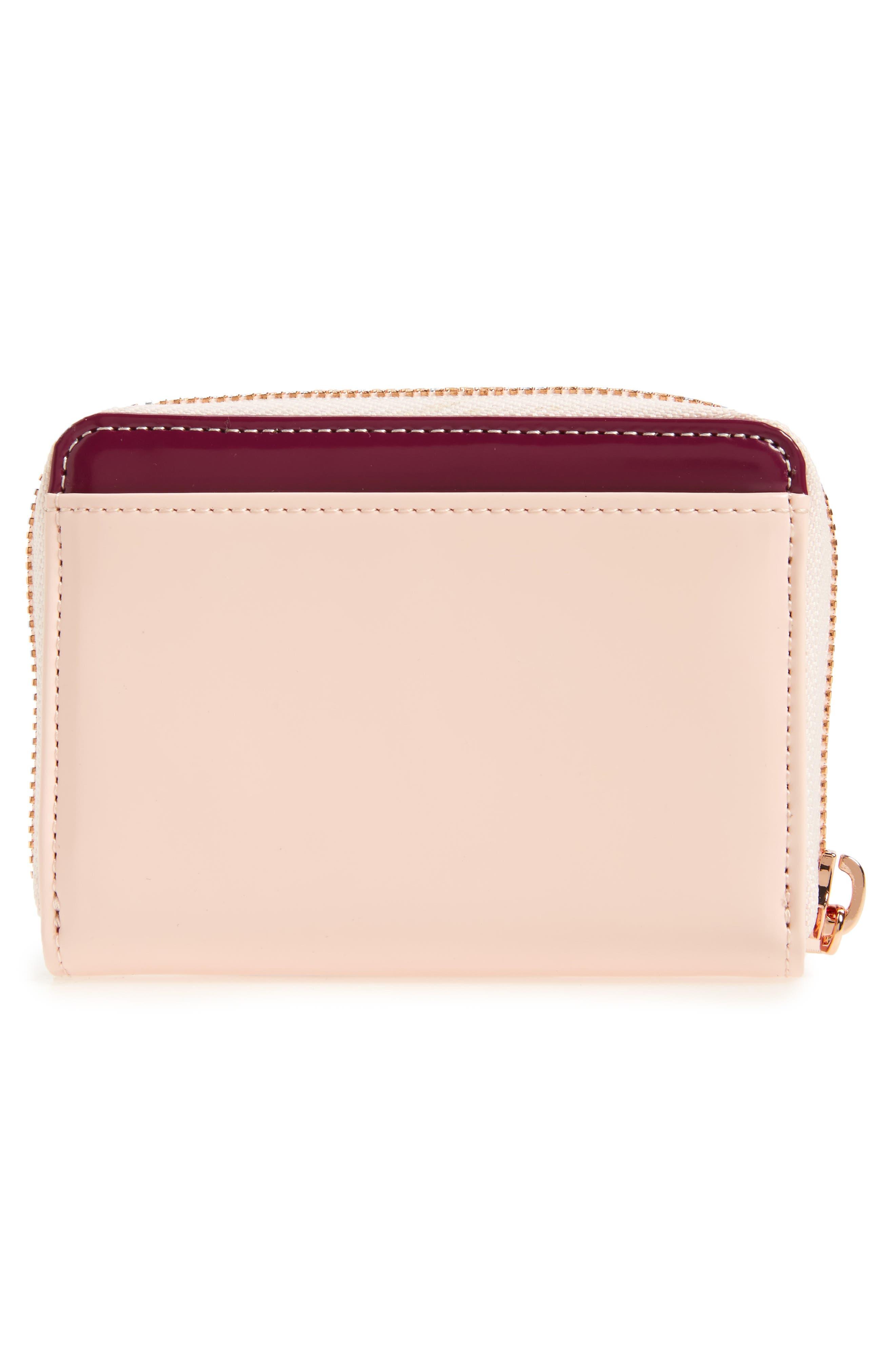 Beryl Leather Mini Purse,                             Alternate thumbnail 3, color,                             Baby Pink