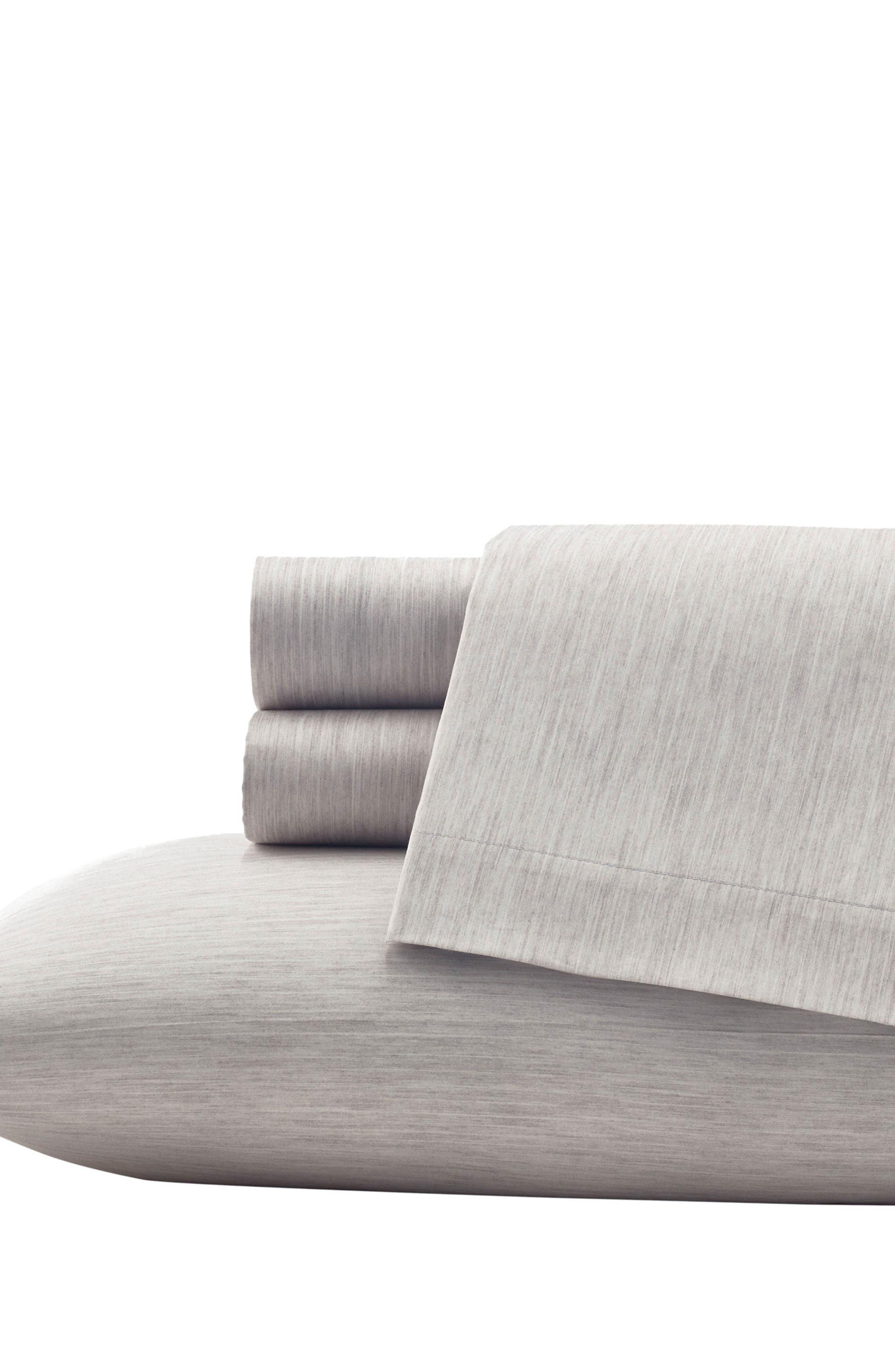 Marble Shibori 300 Thread Count Pillowcases,                         Main,                         color, Lt/ Gray