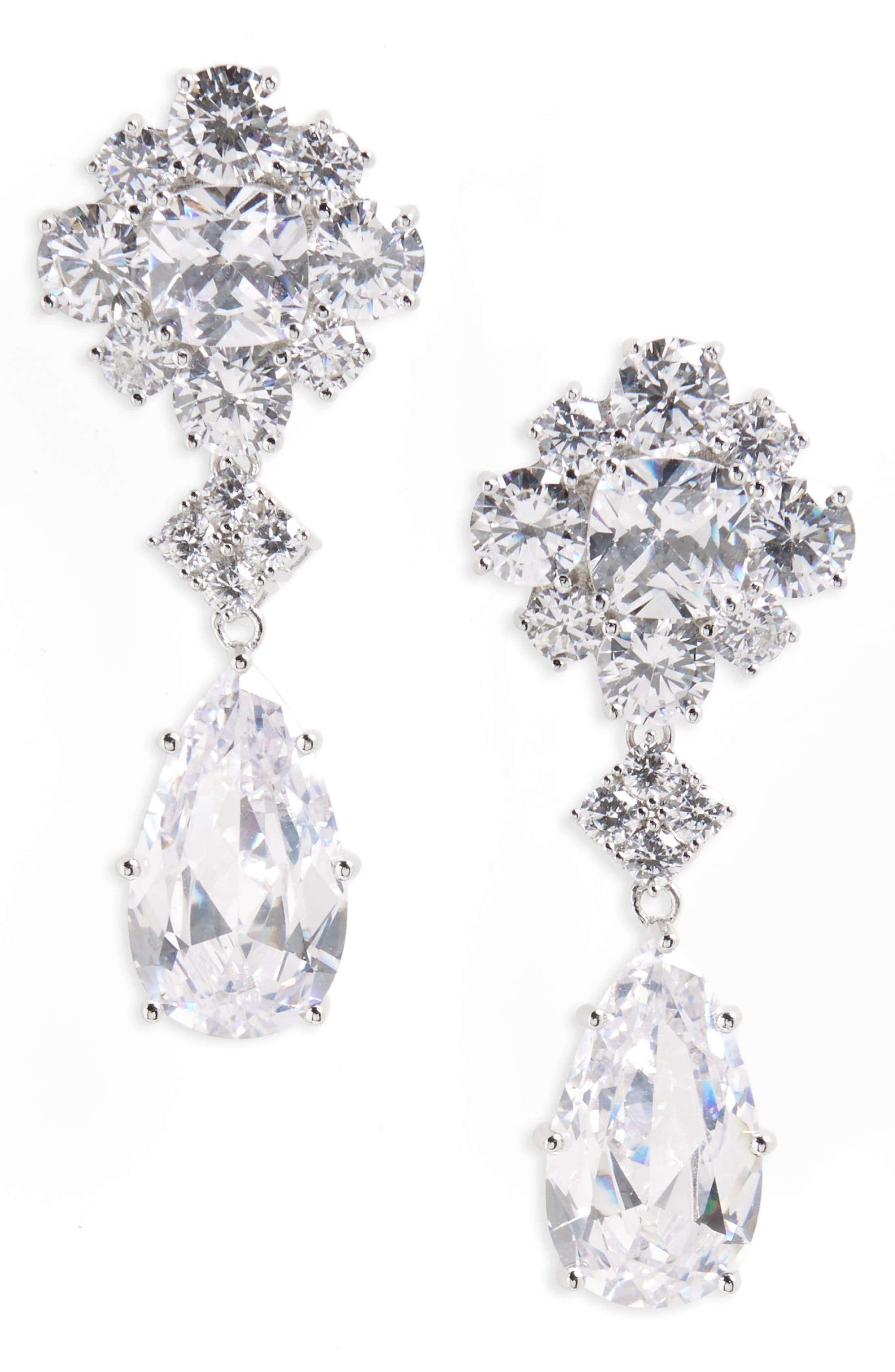 Nina Cluster Drop Earrings