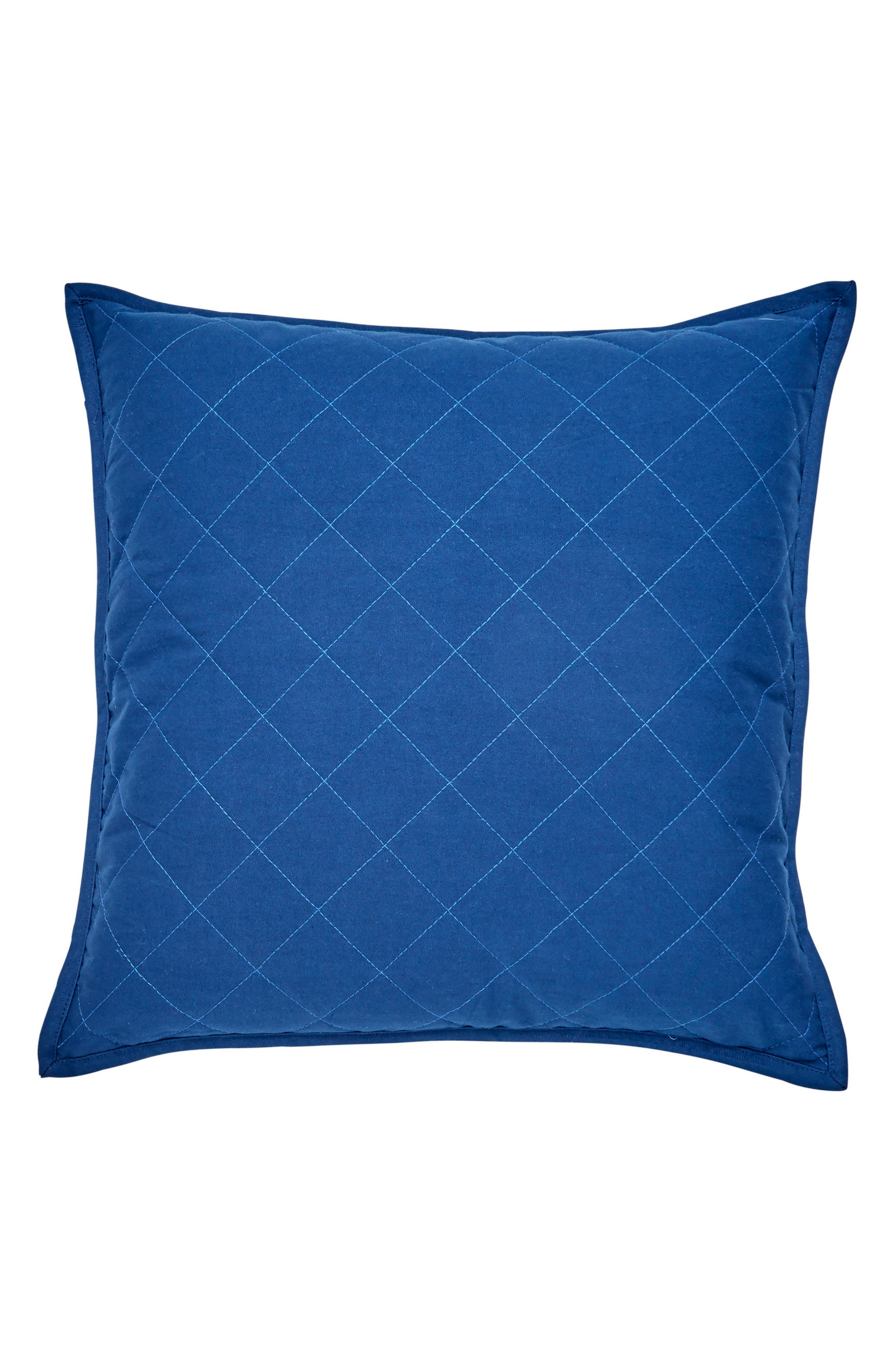 Yacht Club Quilted Accent Pillow,                         Main,                         color, Navy