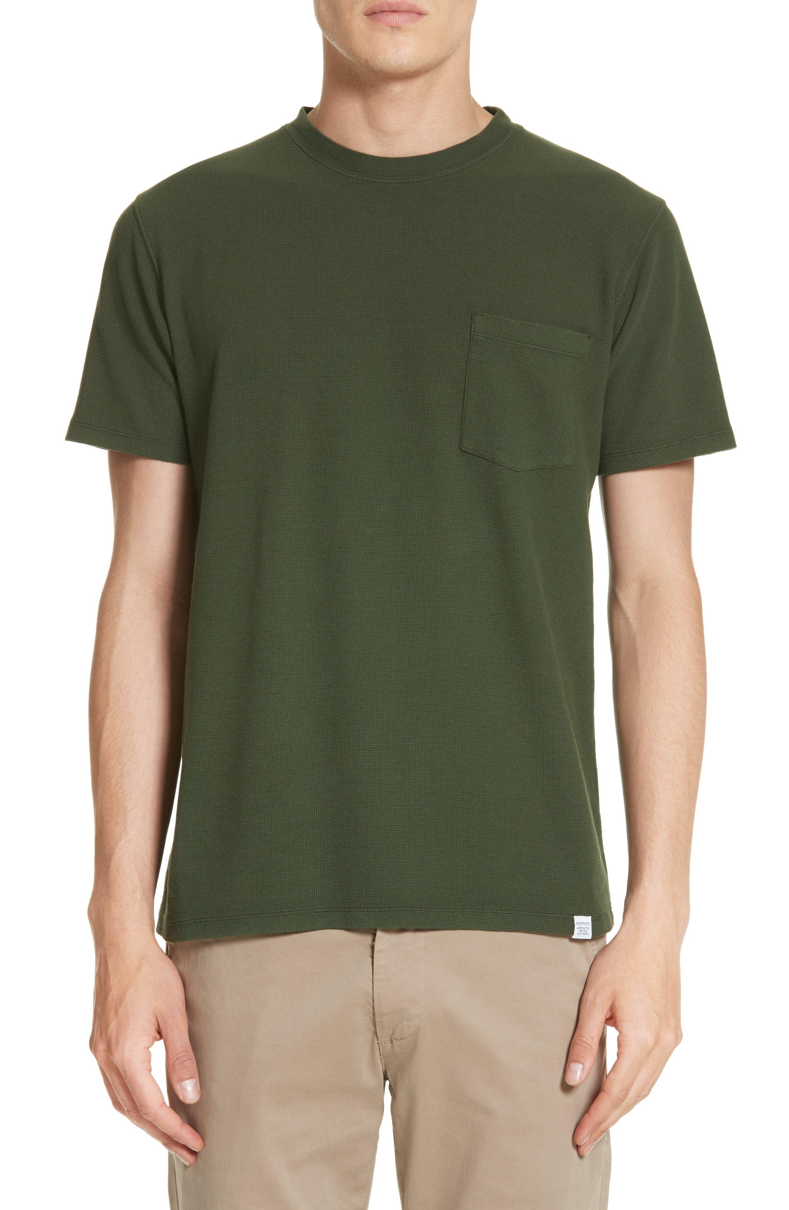 Niels Garment Dye T-Shirt,                         Main,                         color, Forest Green