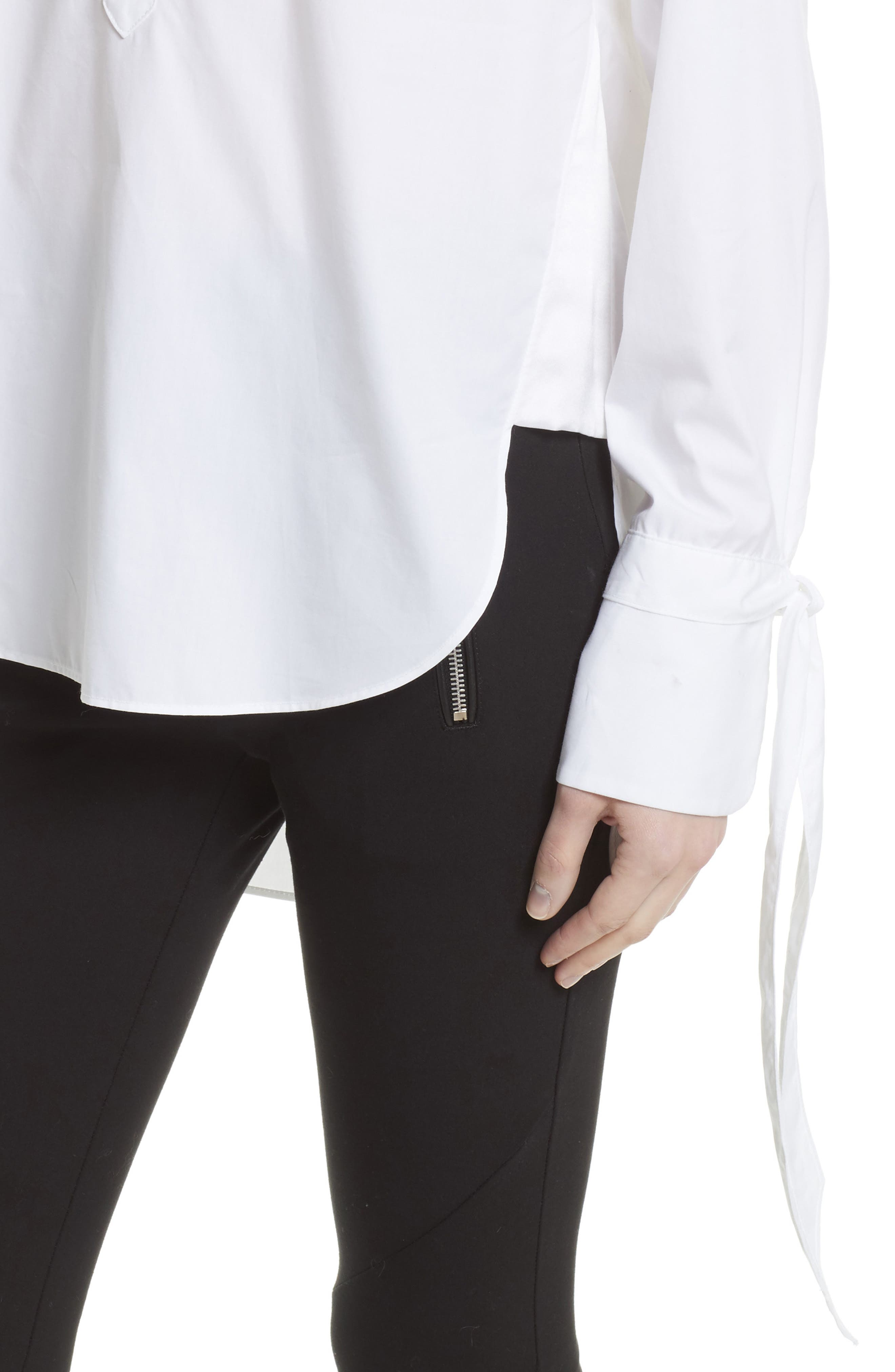 Dylan Cotton Shirt,                             Alternate thumbnail 5, color,                             White