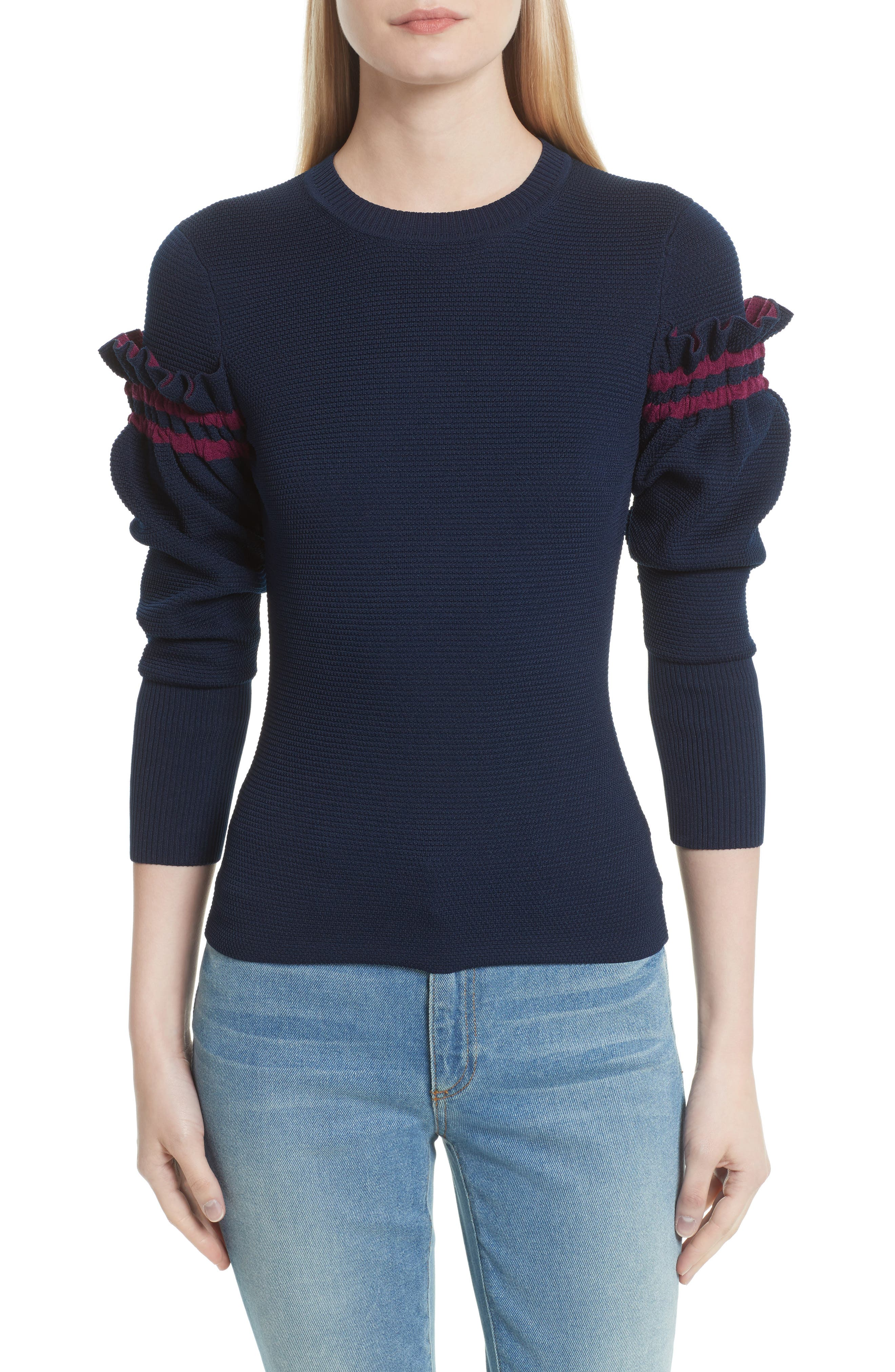 3.1 Phillip Lim Ruffle Sleeve Sweater