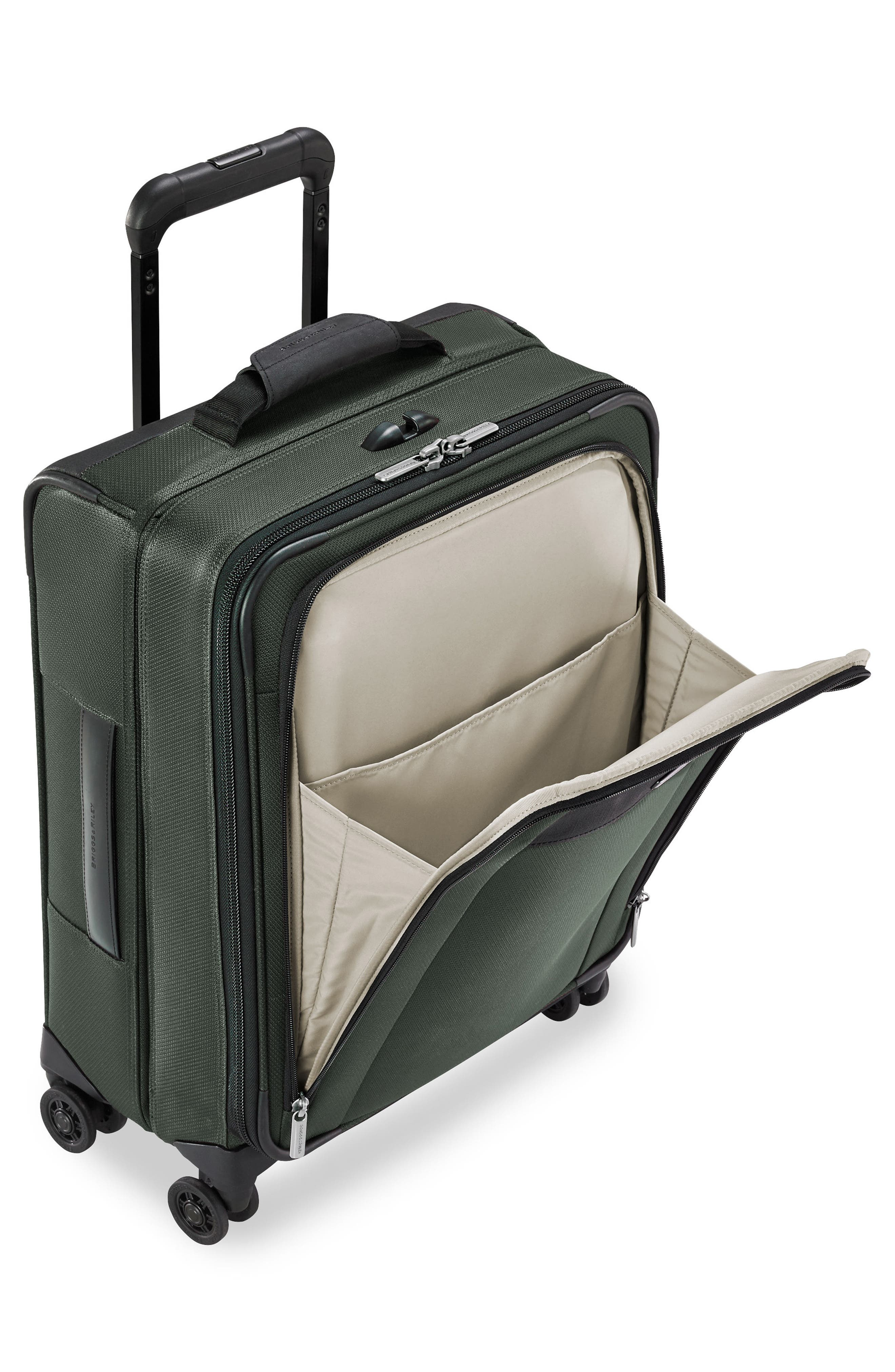 Transcend VX Wide Expandable 21-Inch Spinner Suitcase,                             Alternate thumbnail 4, color,                             Rainforest Green