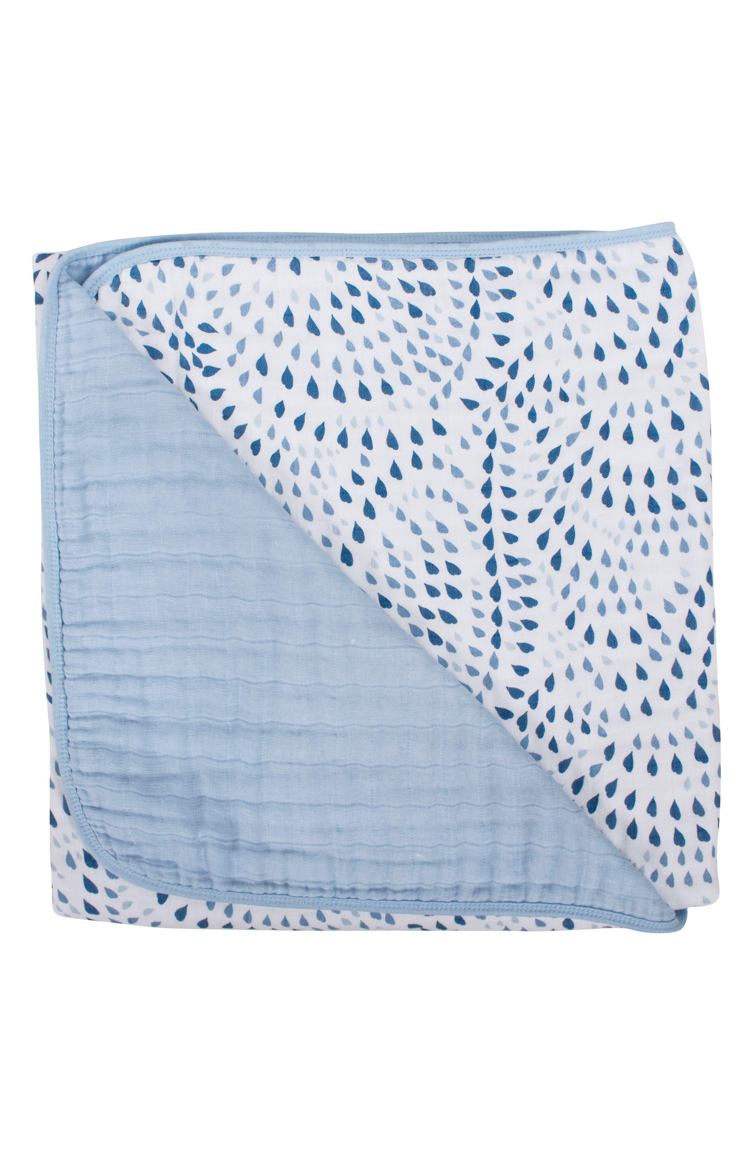 Cotton Muslin Blanket,                             Main thumbnail 1, color,                             Serenity And Sky