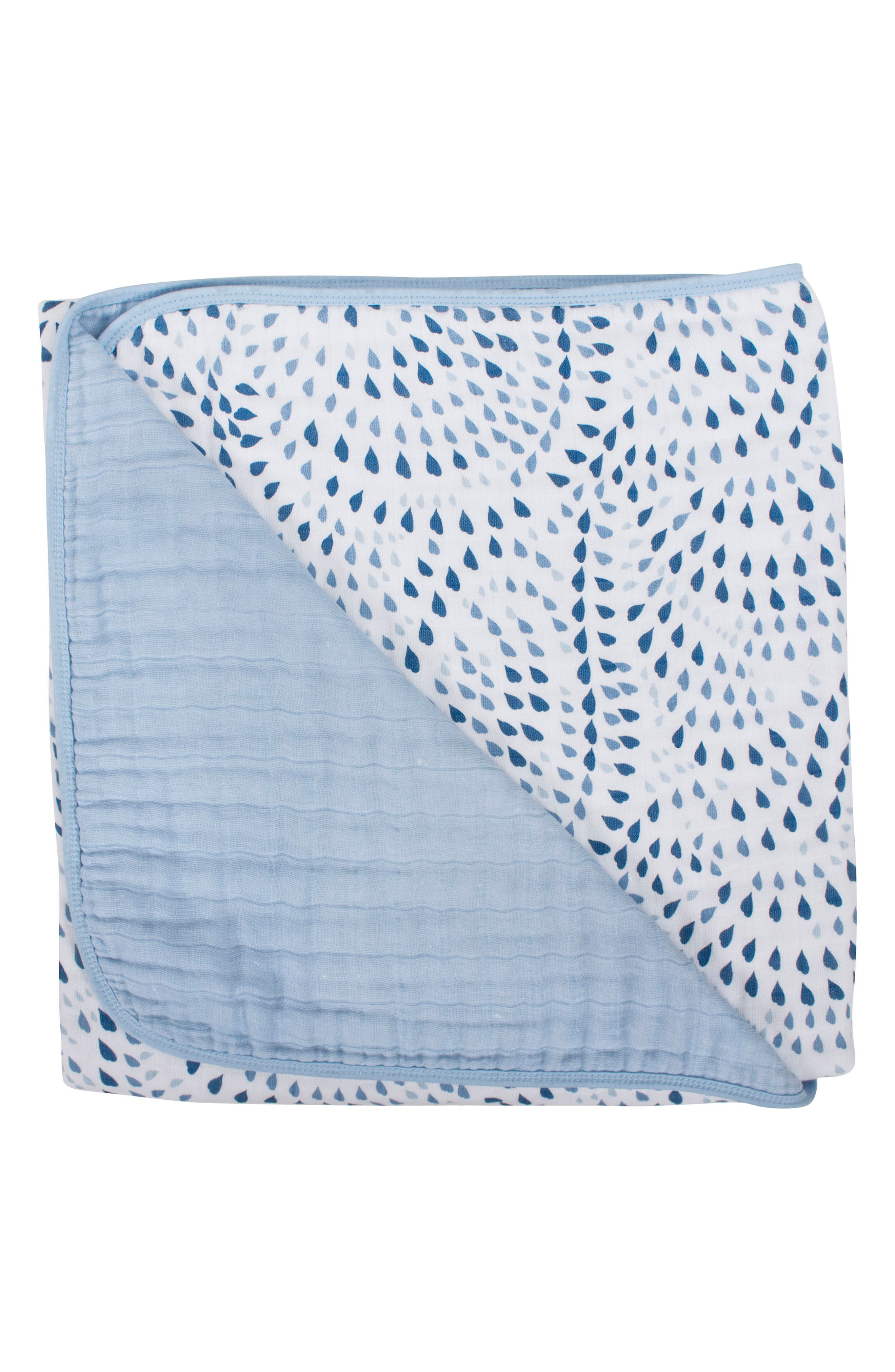 Cotton Muslin Blanket,                         Main,                         color, Serenity And Sky