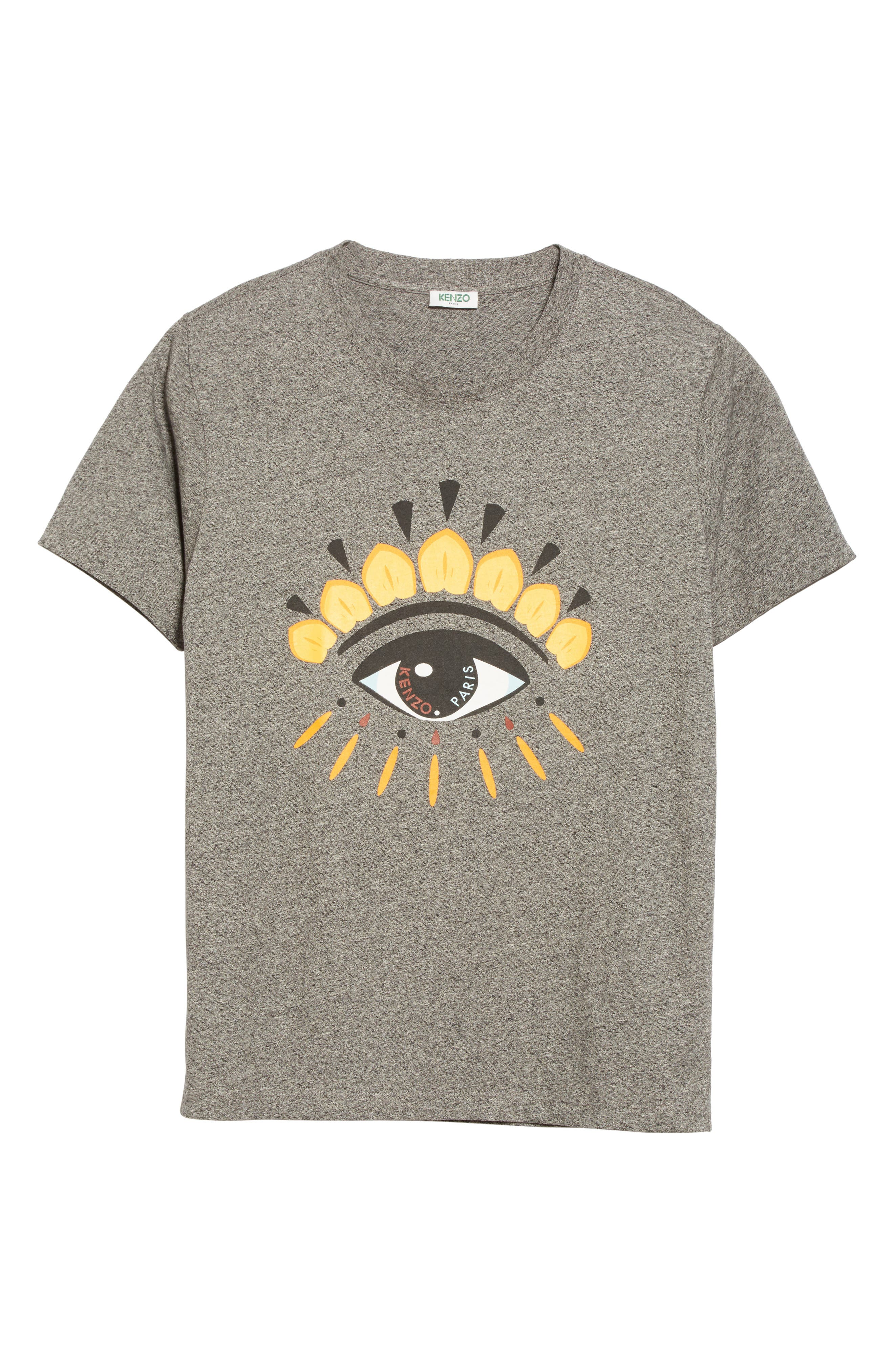 Embroidered Eye T-Shirt,                             Alternate thumbnail 6, color,                             Antracite
