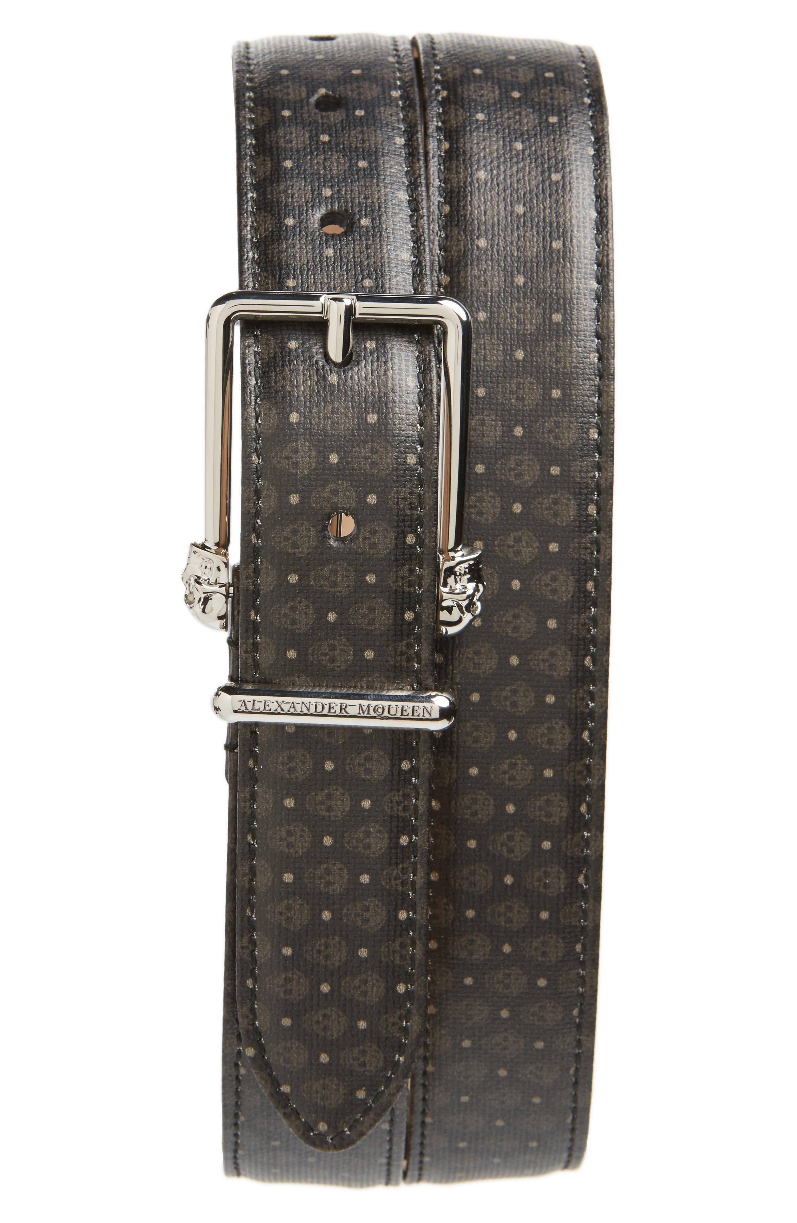 Alexander McQueen Coated Canvas Belt