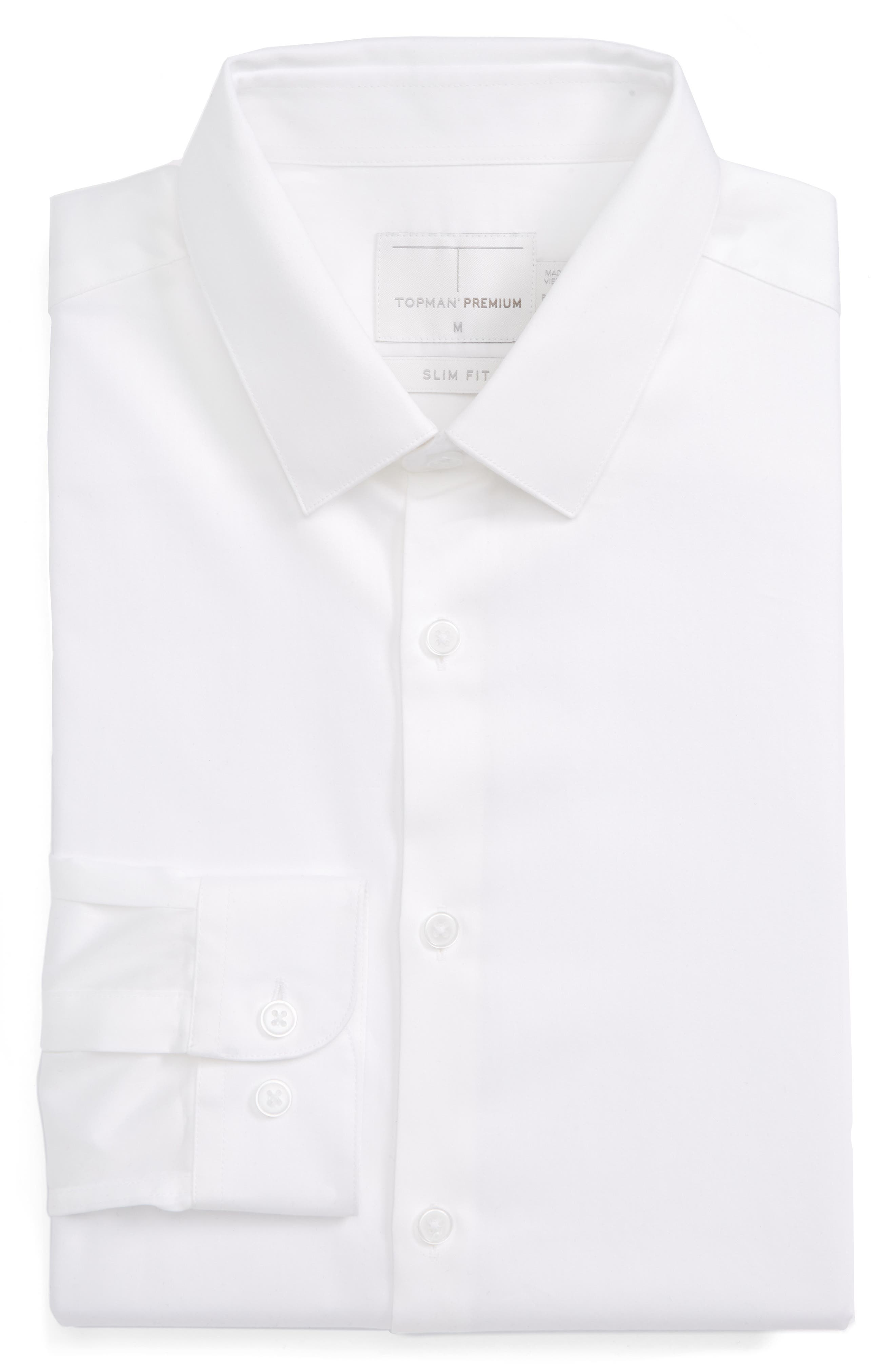Dress Shirt,                             Alternate thumbnail 6, color,                             White
