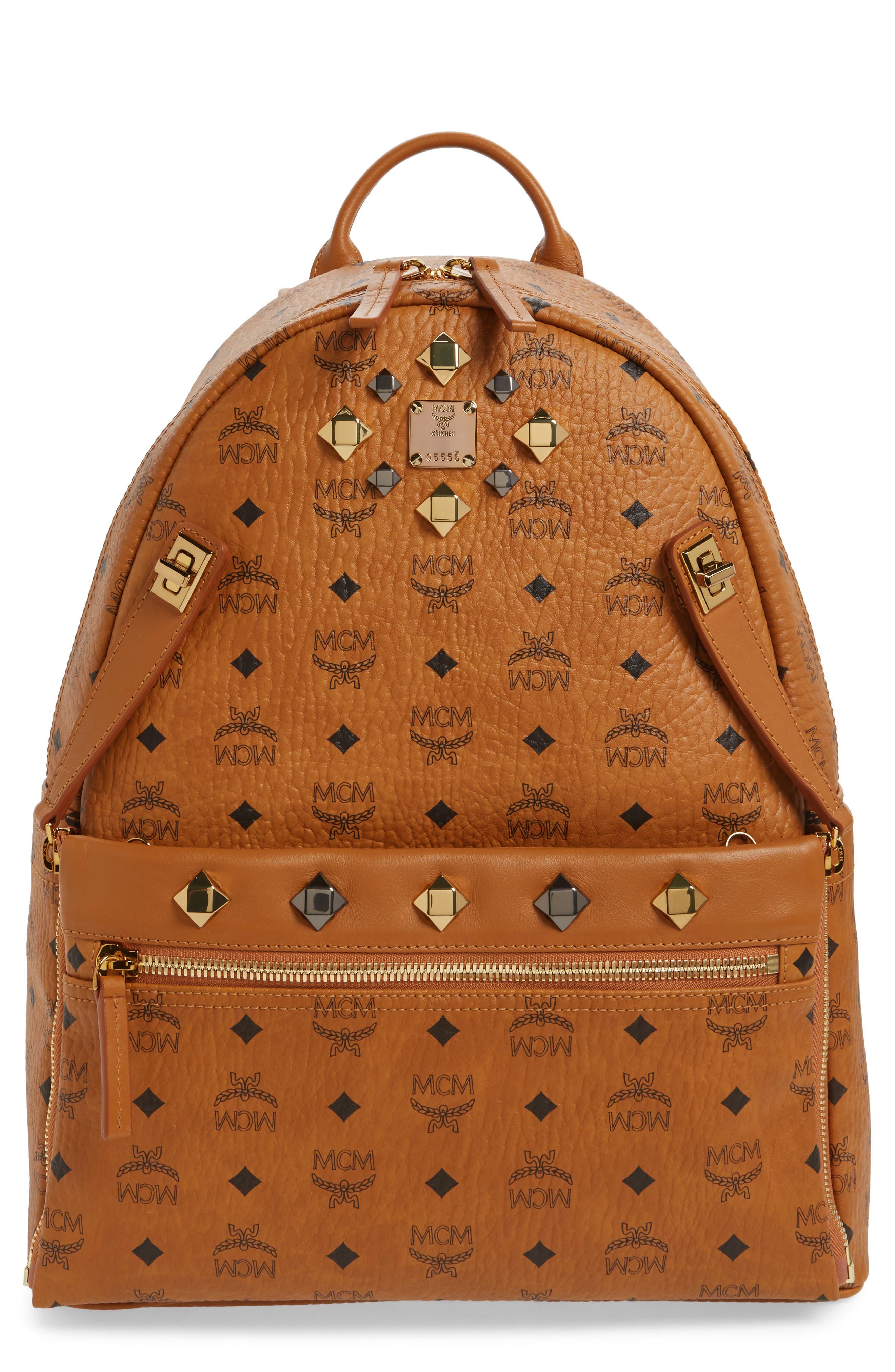 Medium Dual Stark Backpack,                             Main thumbnail 1, color,                             Cognac