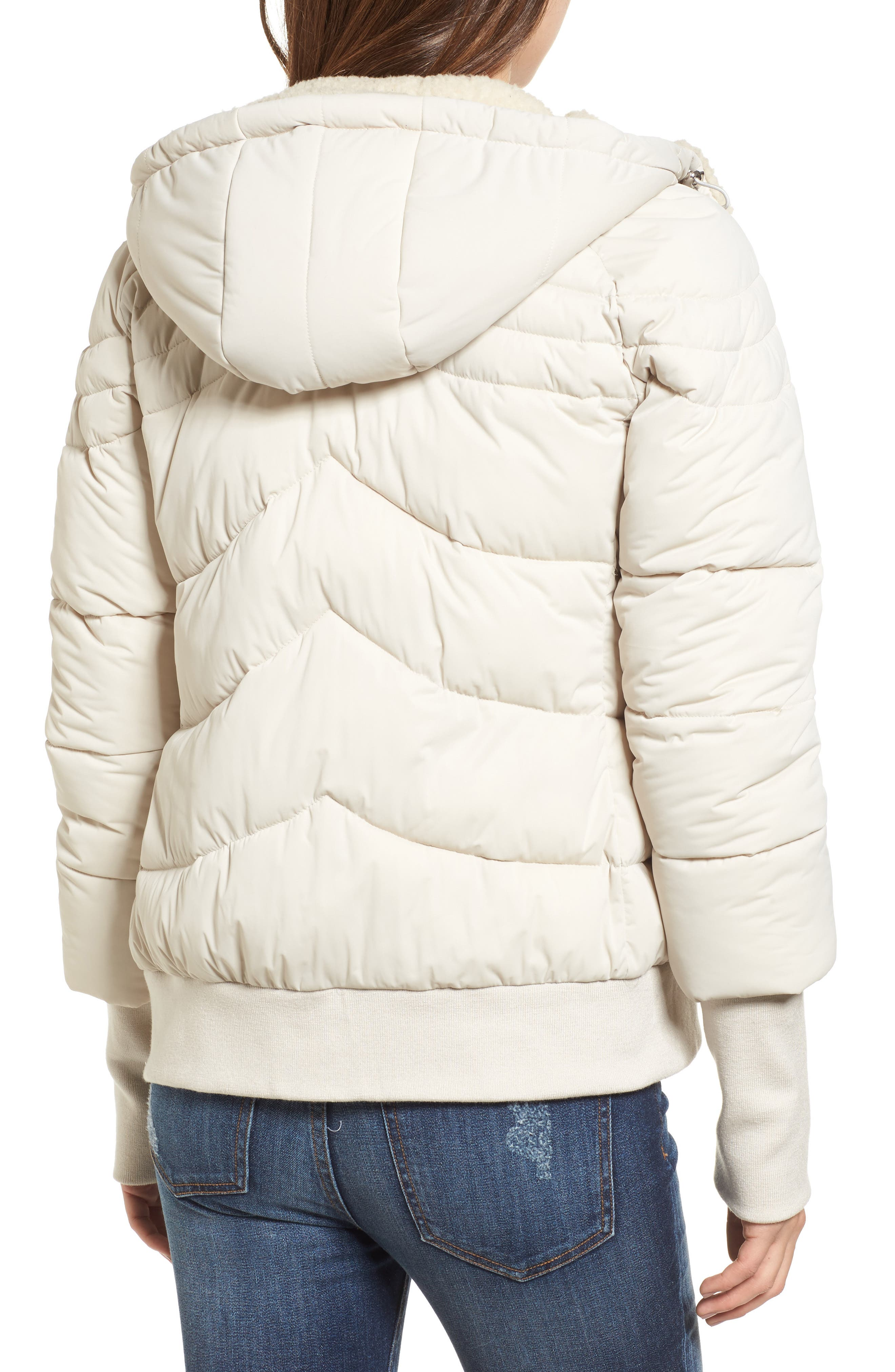 Alternate Image 2  - GUESS Oversize Hooded Puffer Jacket with Knit & Faux Shearling Trim