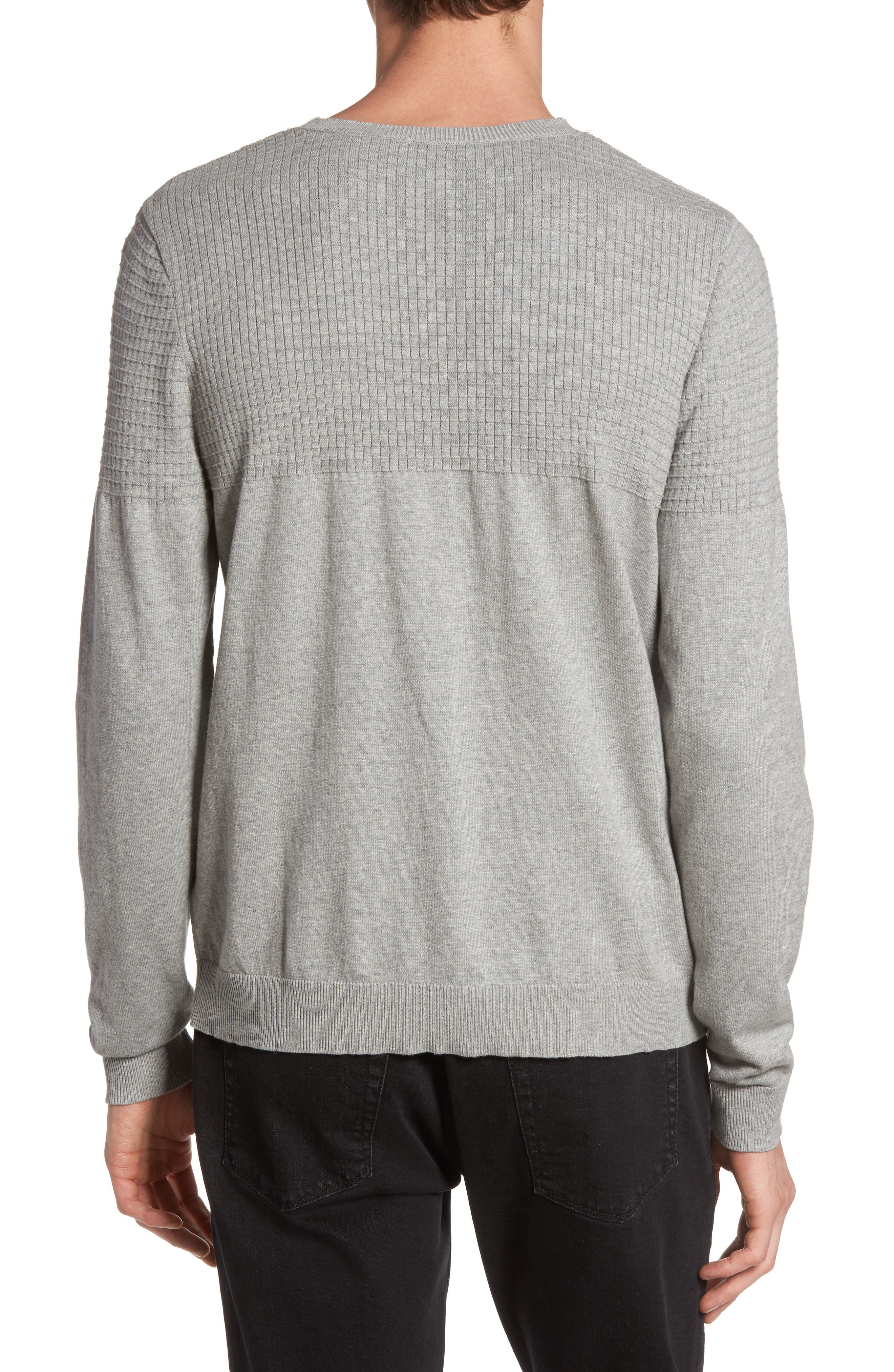 Textured Sweater,                             Alternate thumbnail 3, color,                             Grey