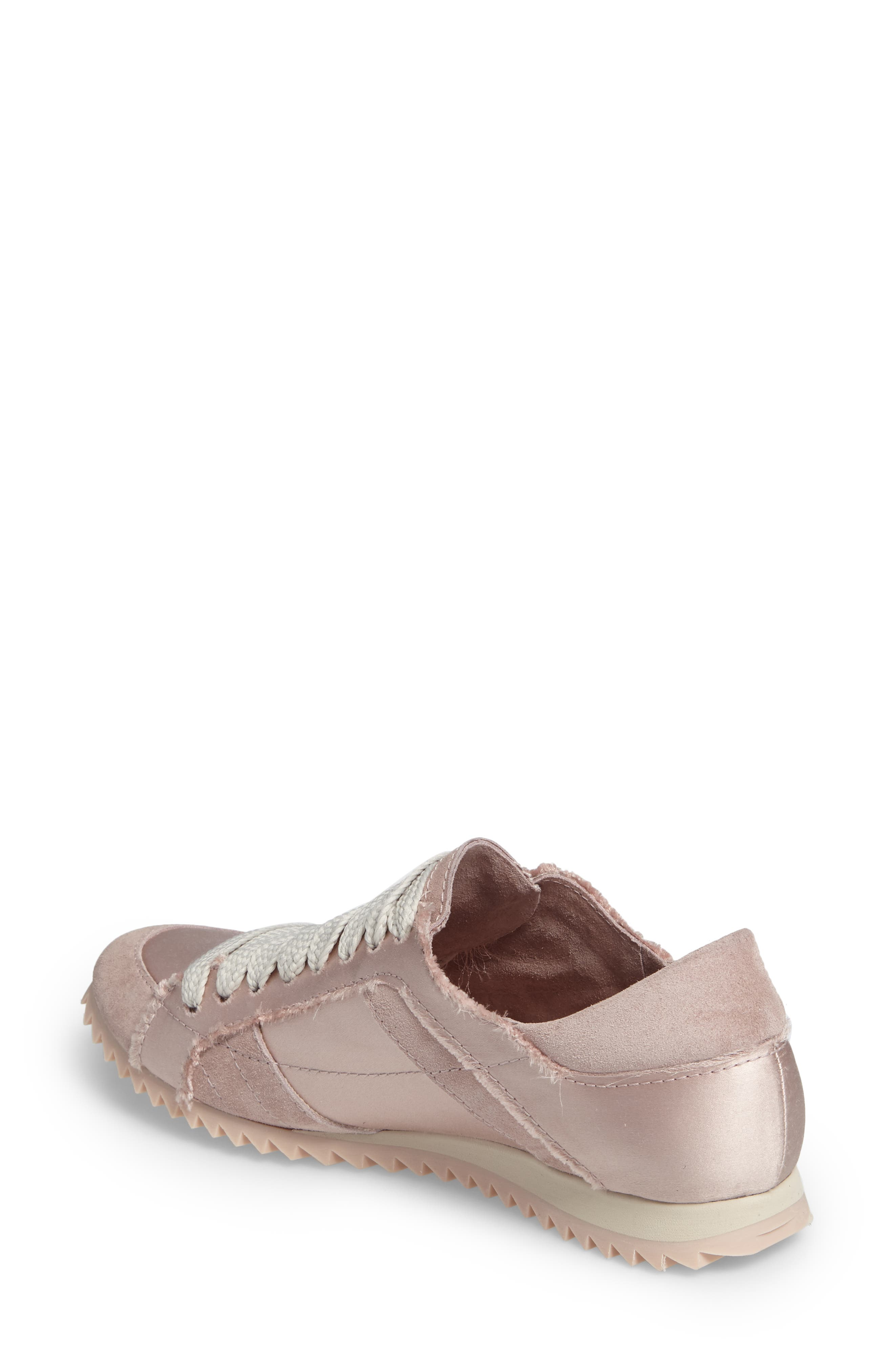 Cristina Trainer Sneaker,                             Alternate thumbnail 2, color,                             Light Pink Satin