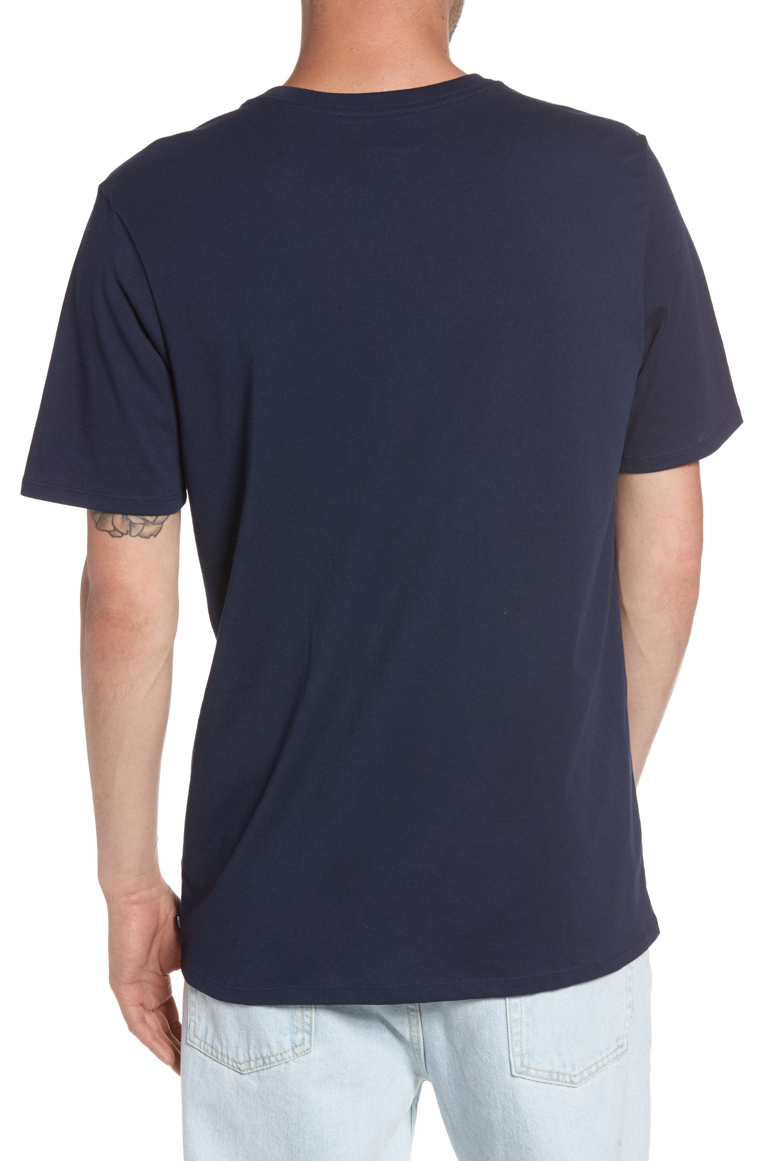 Nike 'SB Logo' T-Shirt,                             Alternate thumbnail 2, color,                             Obsidian/ Mineral Gold