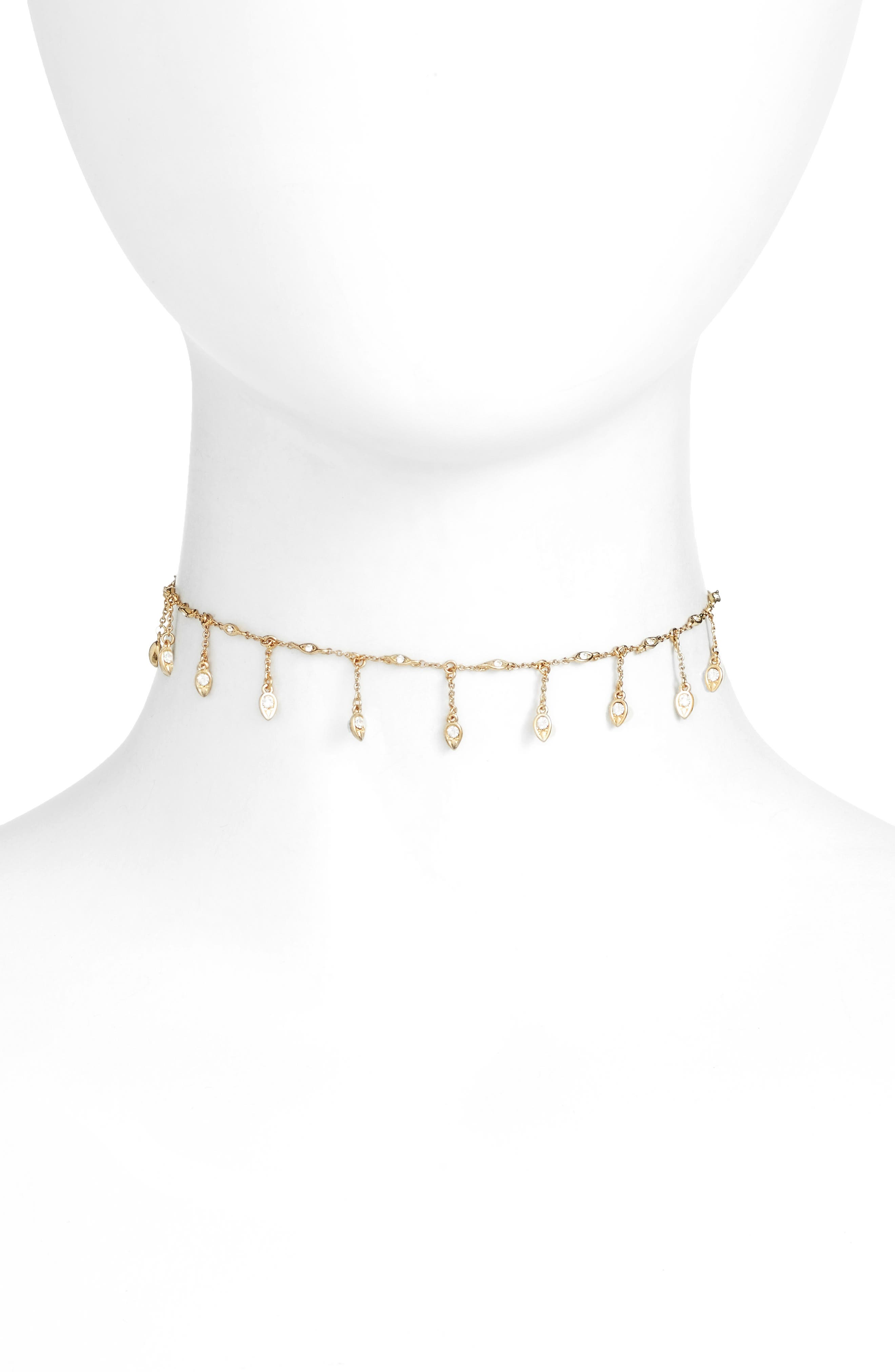 Revel Starburst Choker Necklace,                         Main,                         color, Gold